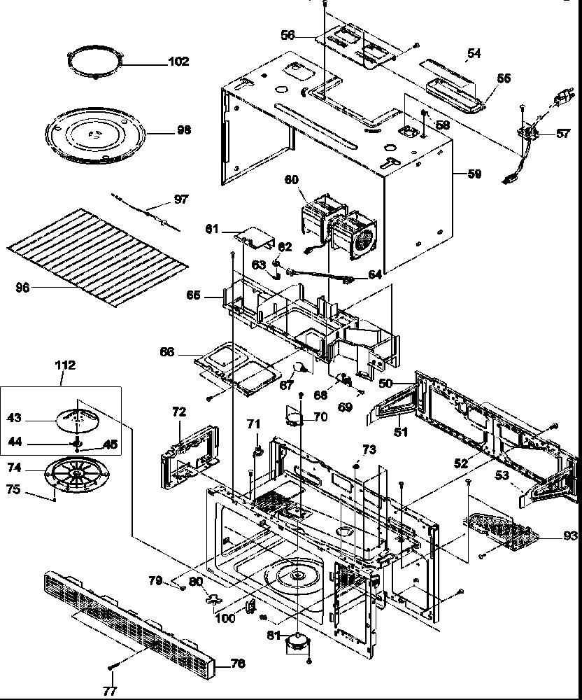 Amana model MVH130E-P1307901M microwave/hood combo genuine