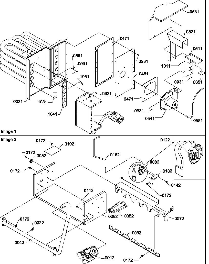 Amana model PGB42C1152D/P1217201C package units(both units