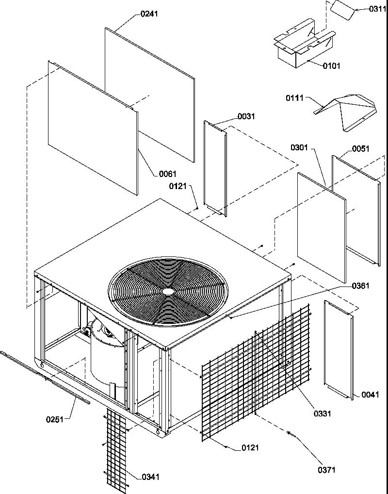 Amana model PGD36C0902D/P1204307C air-conditioner/heat