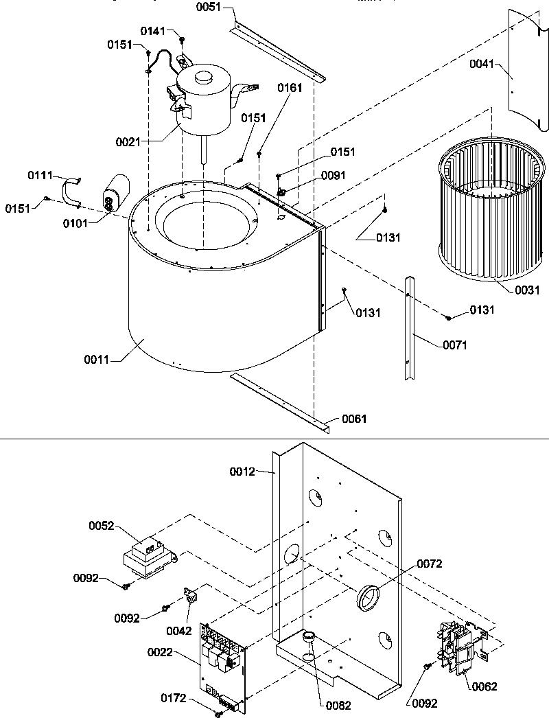 Amana model PGD24C0702D/P1222302C air-conditioner/heat