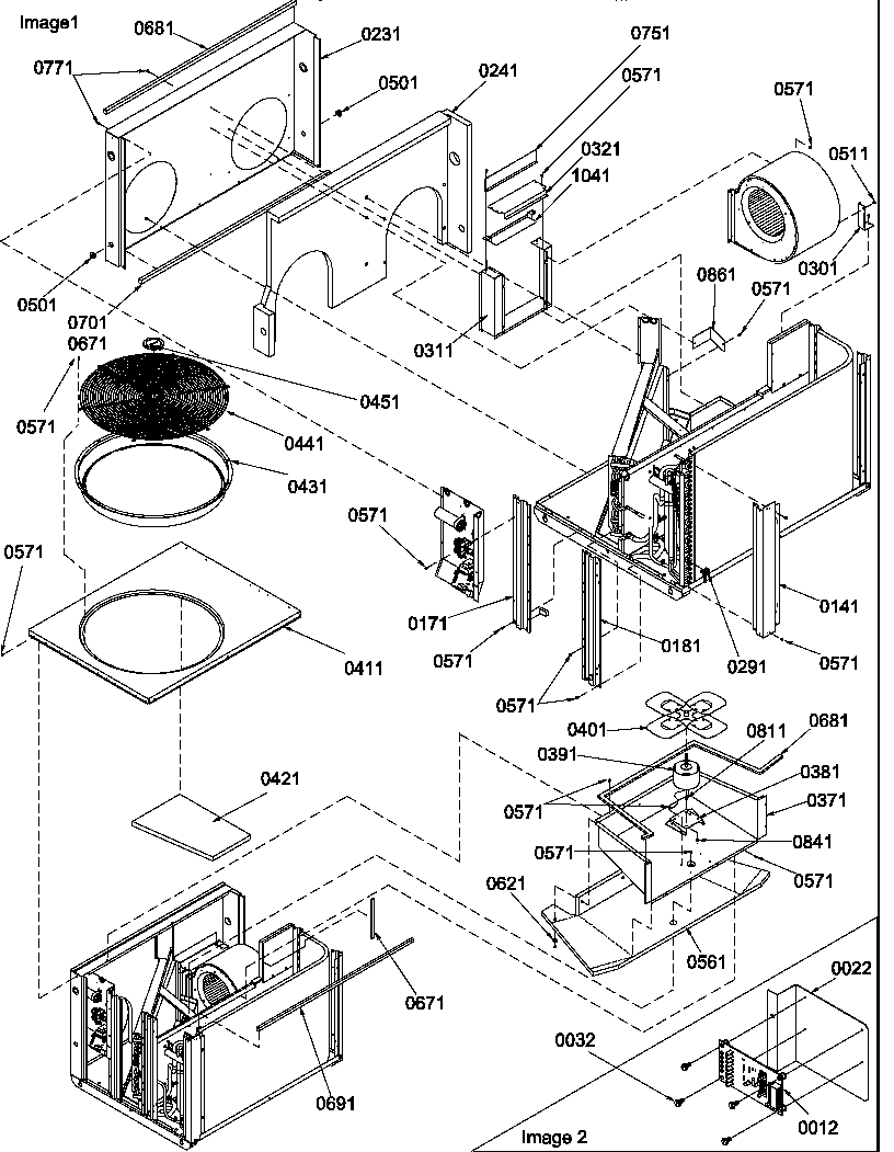 Amana model PHD42C02E/P1224304C air-conditioner/heat pump