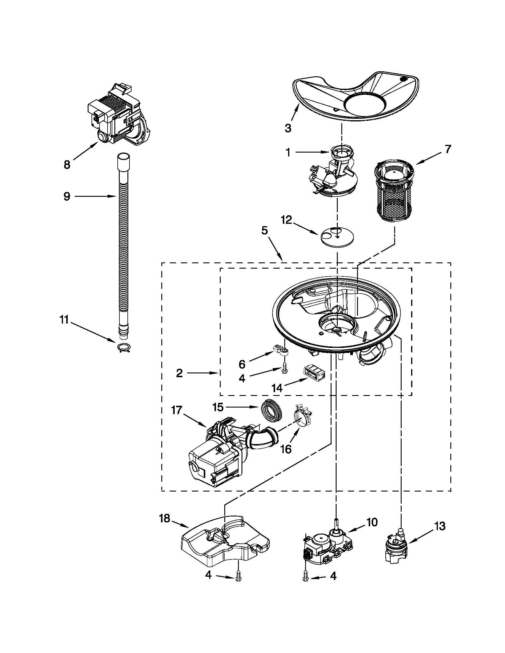 sears model 110 parts diagram 1987 bayliner capri wiring kenmore undercounter dishwasher 66513293k110