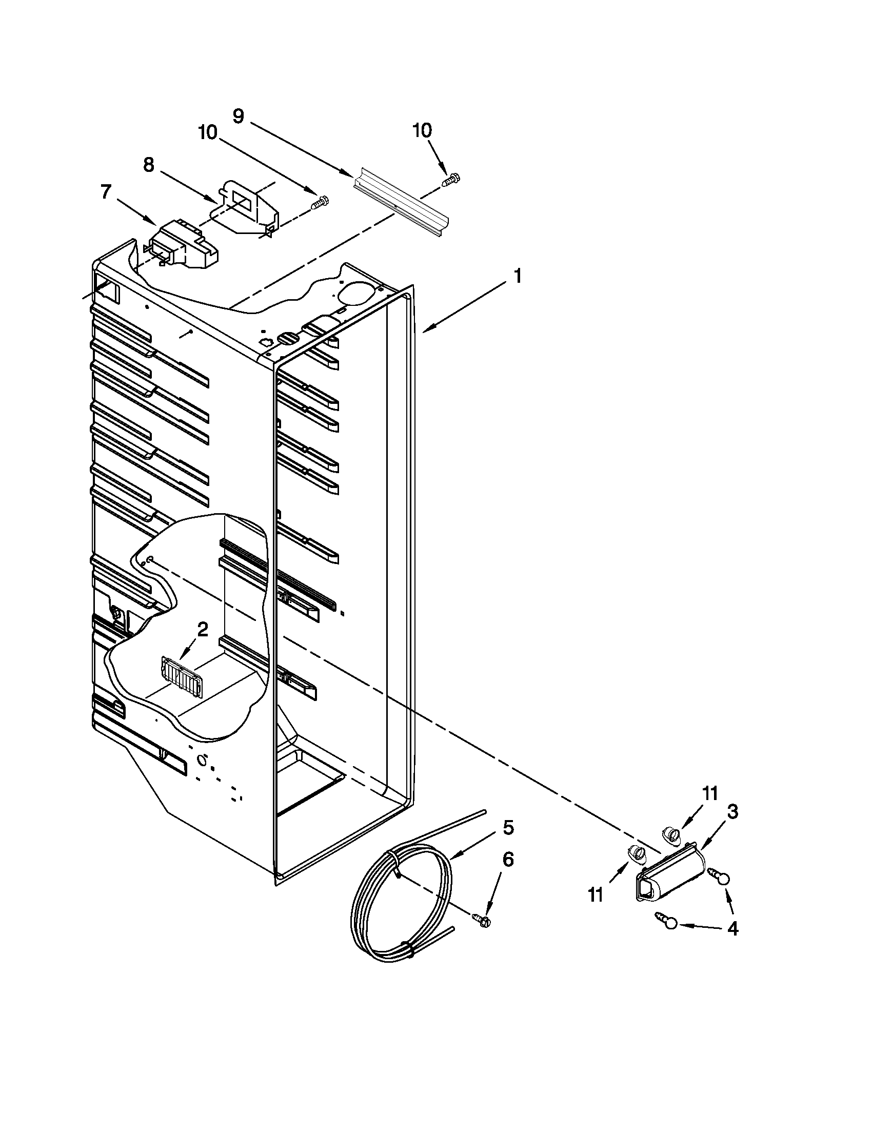 Kenmore model 10651103110 side-by-side refrigerator