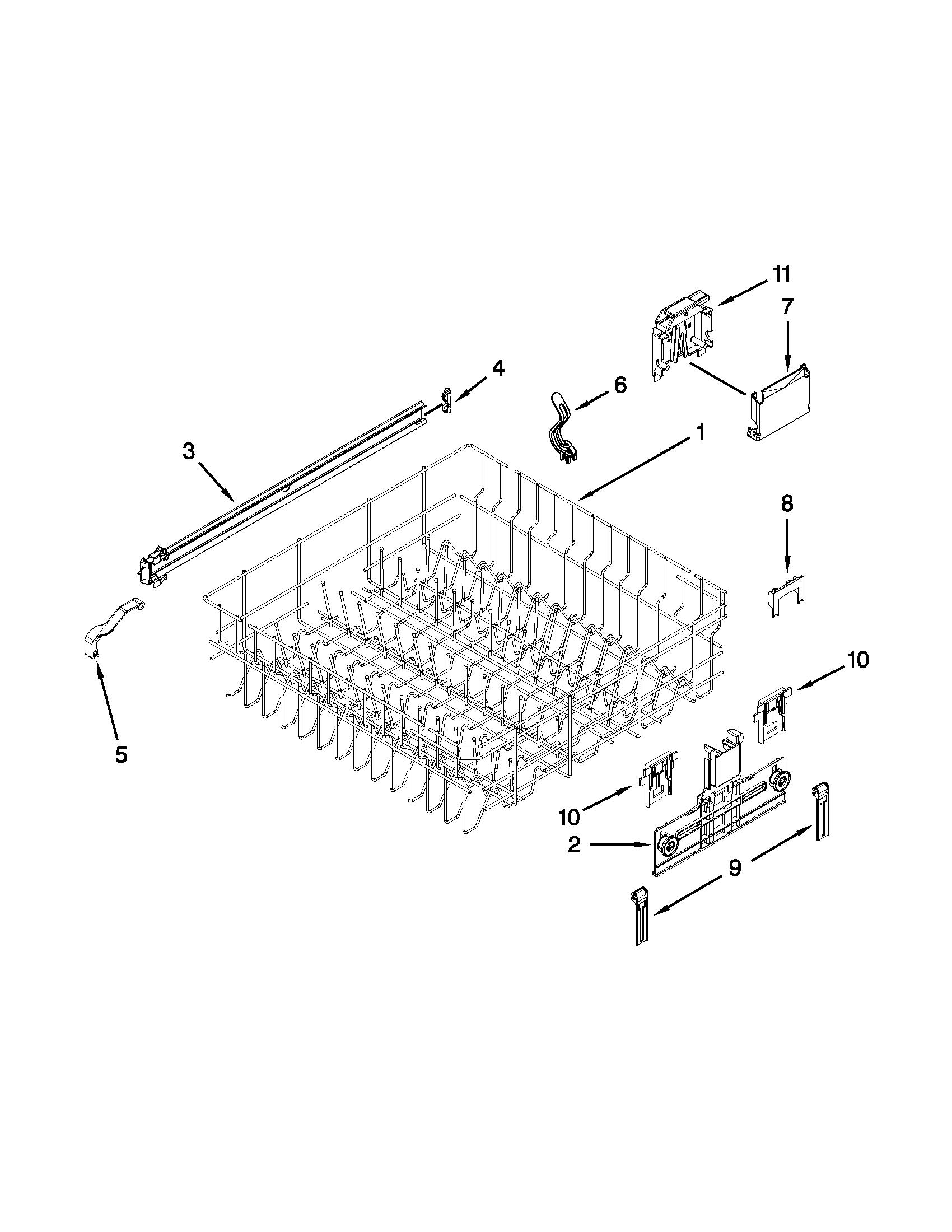Kenmore model 66513049K114 dishwasher genuine parts