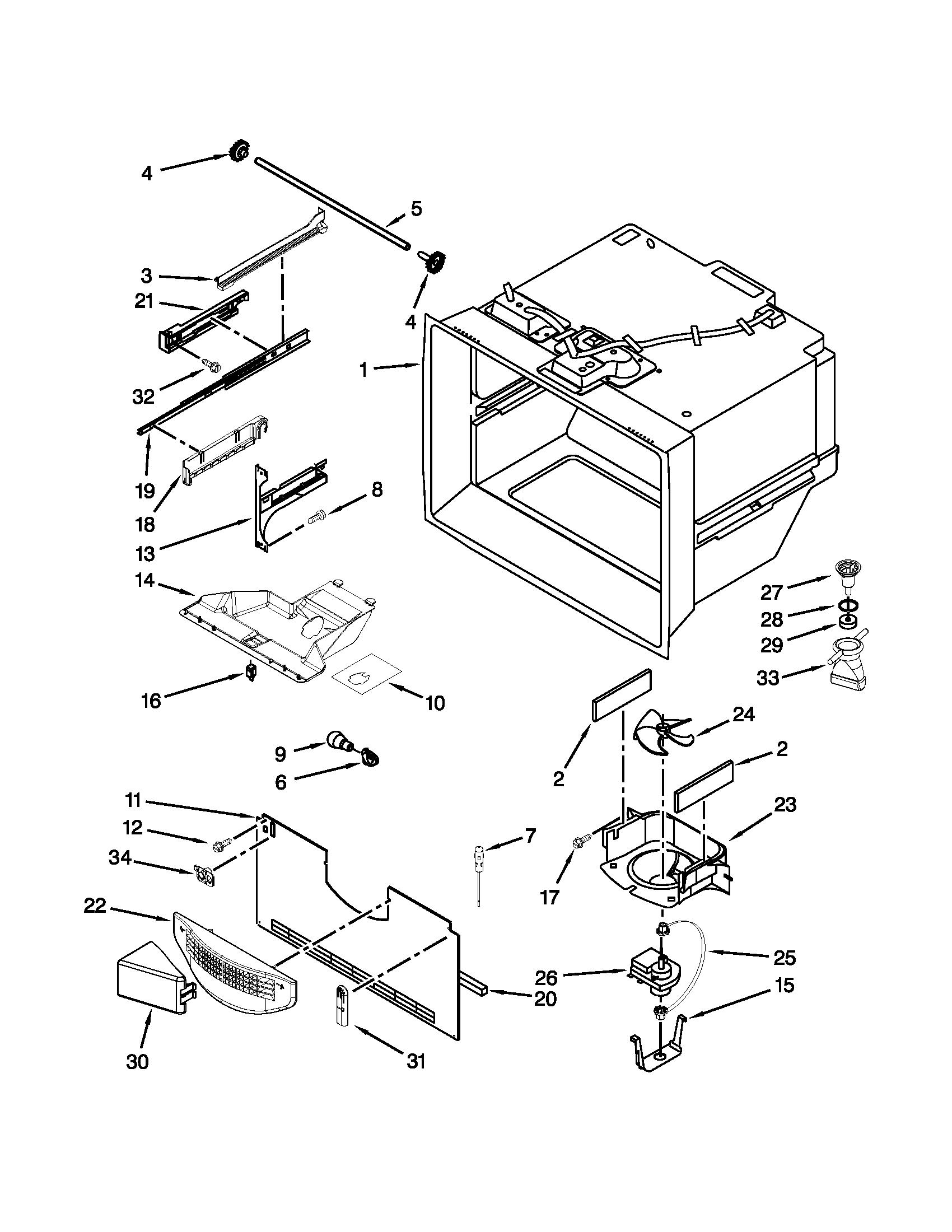 Kenmore model 59672013015 bottom-mount refrigerator