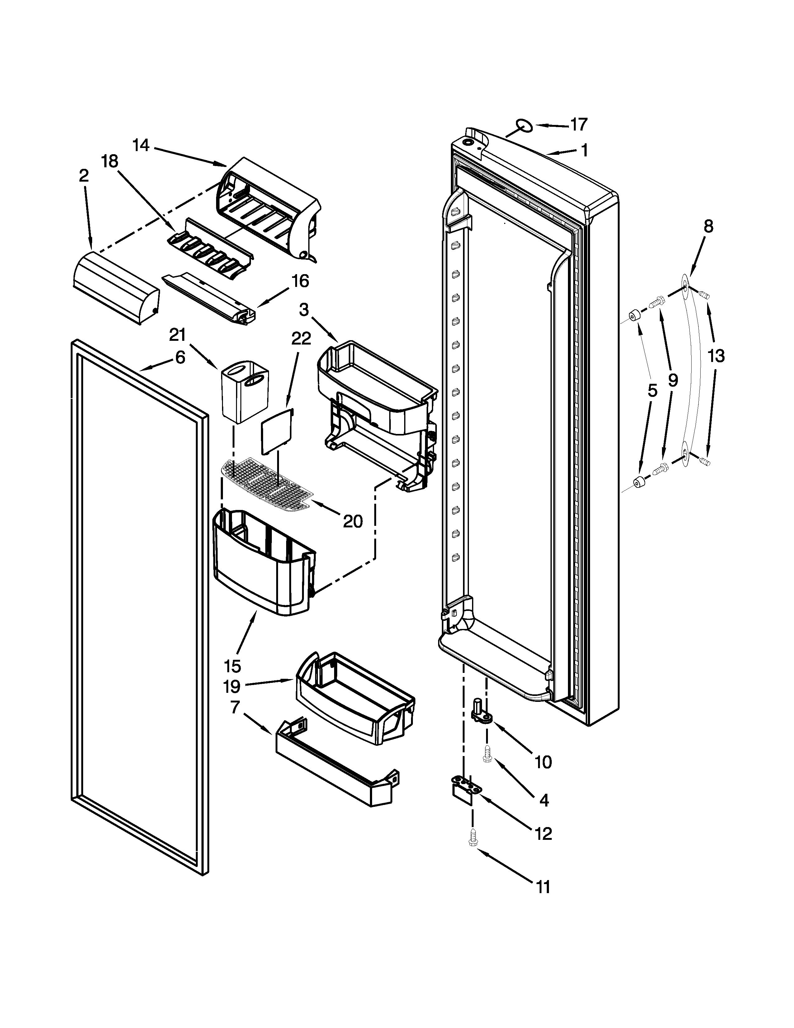 Kenmore-Elite model 10654789801 side-by-side refrigerator