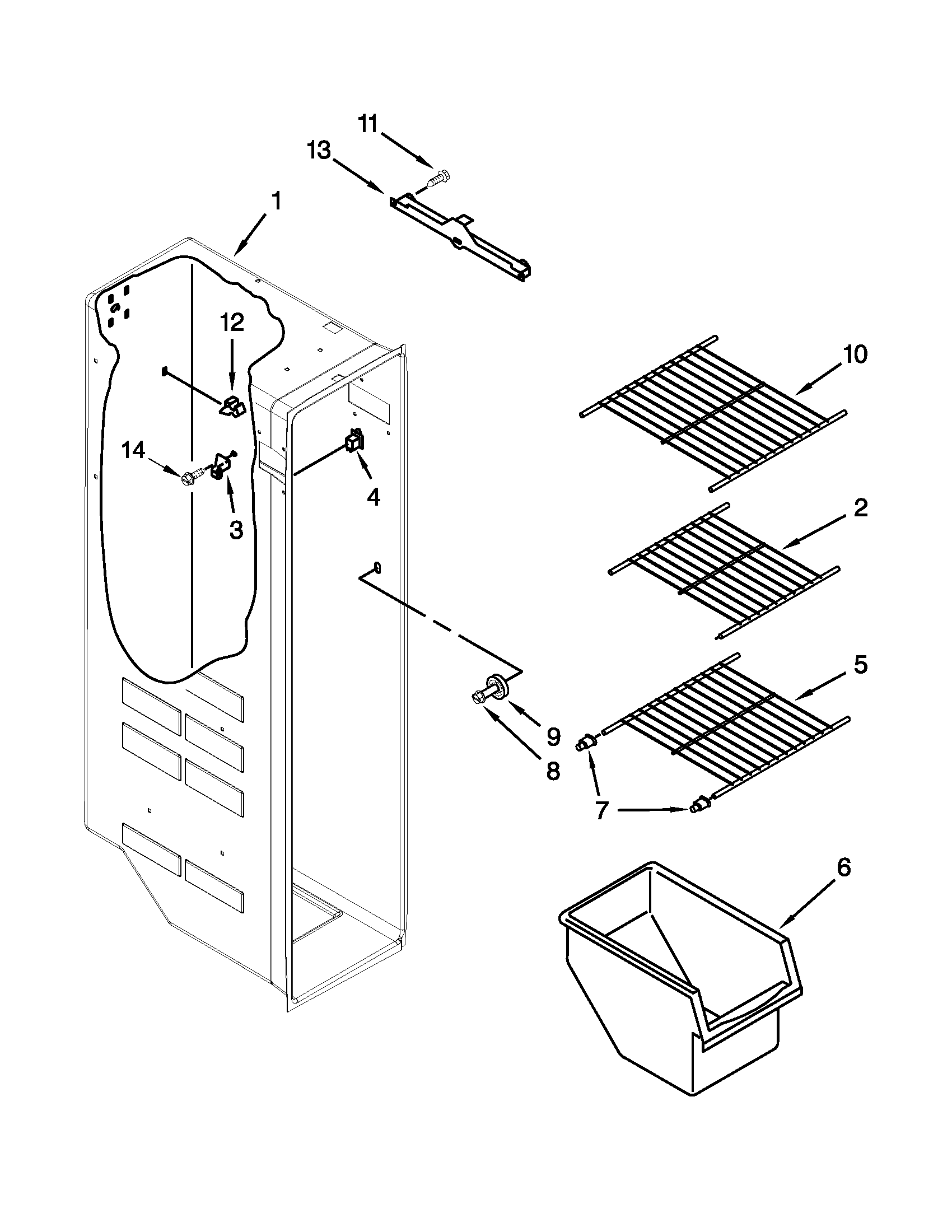 Kenmore model 10651123210 side-by-side refrigerator