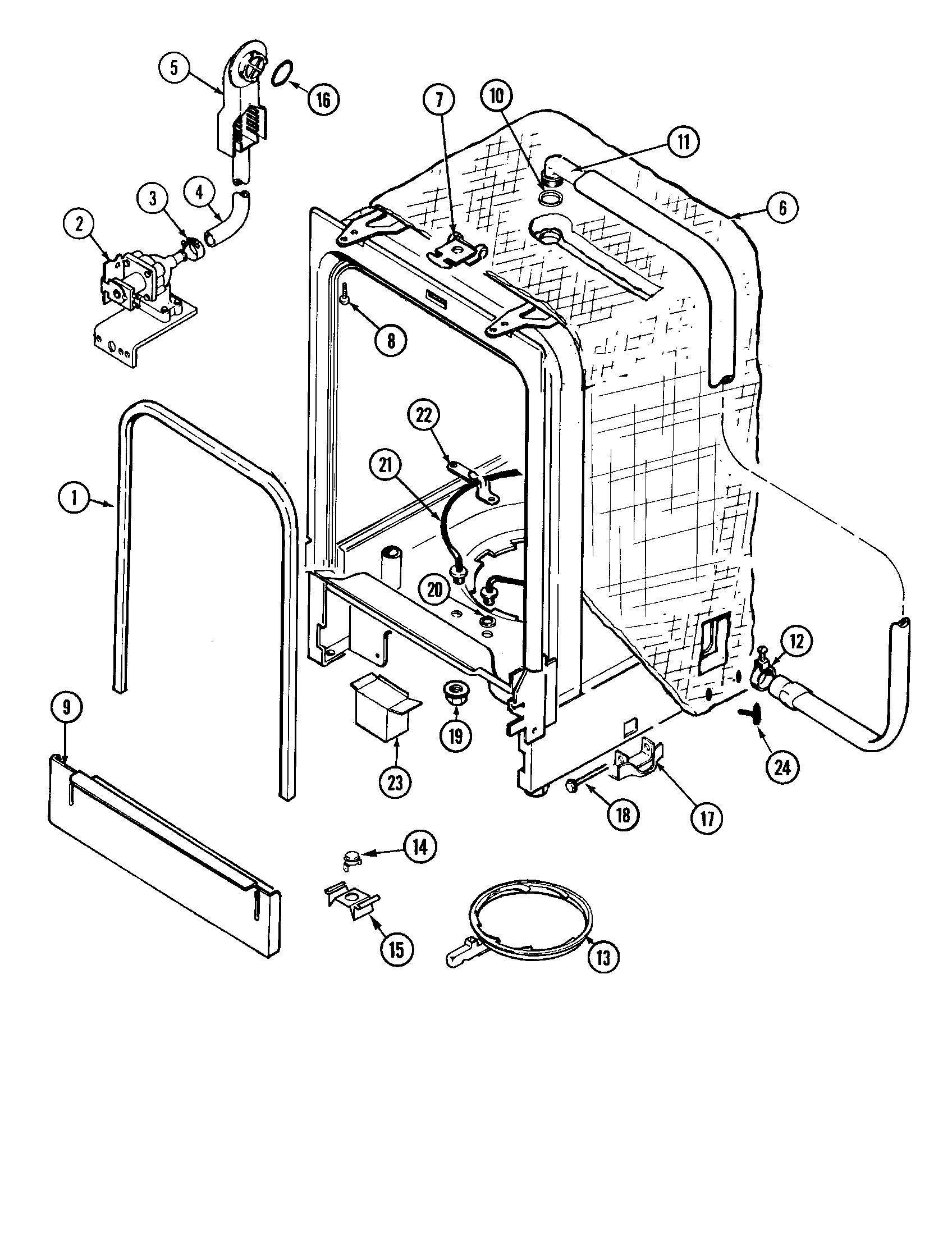 Maytag model DWC7602AAE dishwasher genuine parts