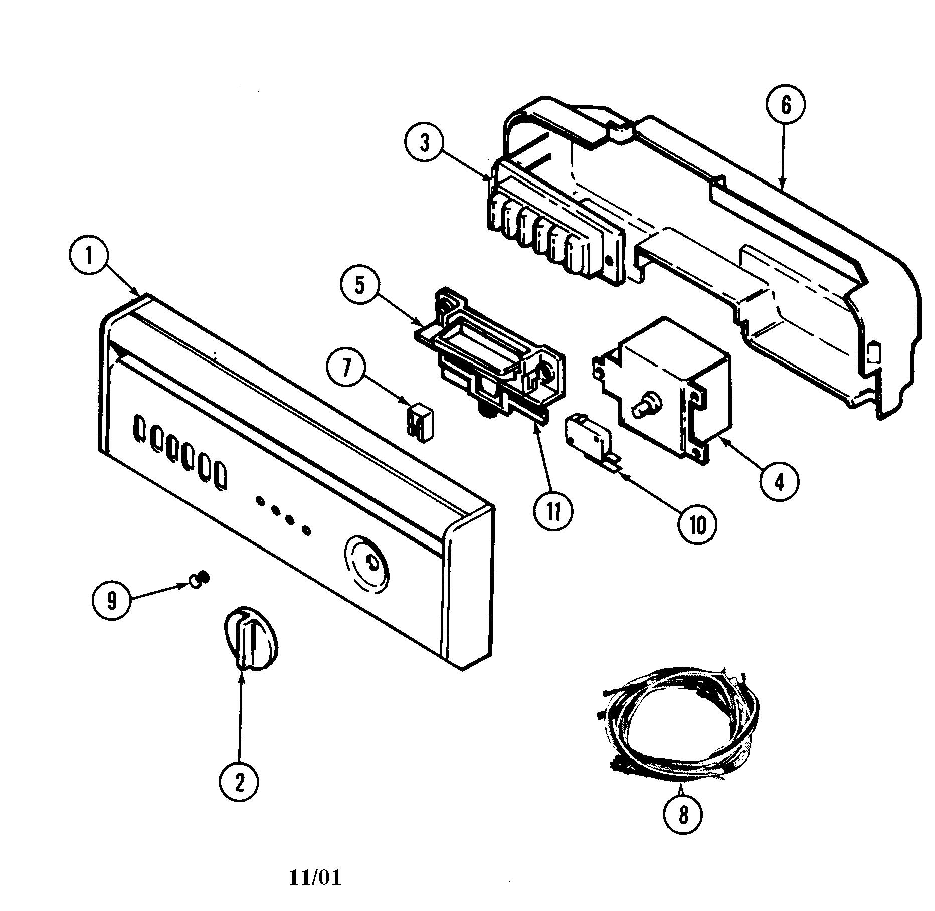 Maytag model DWU8860AAX dishwasher genuine parts