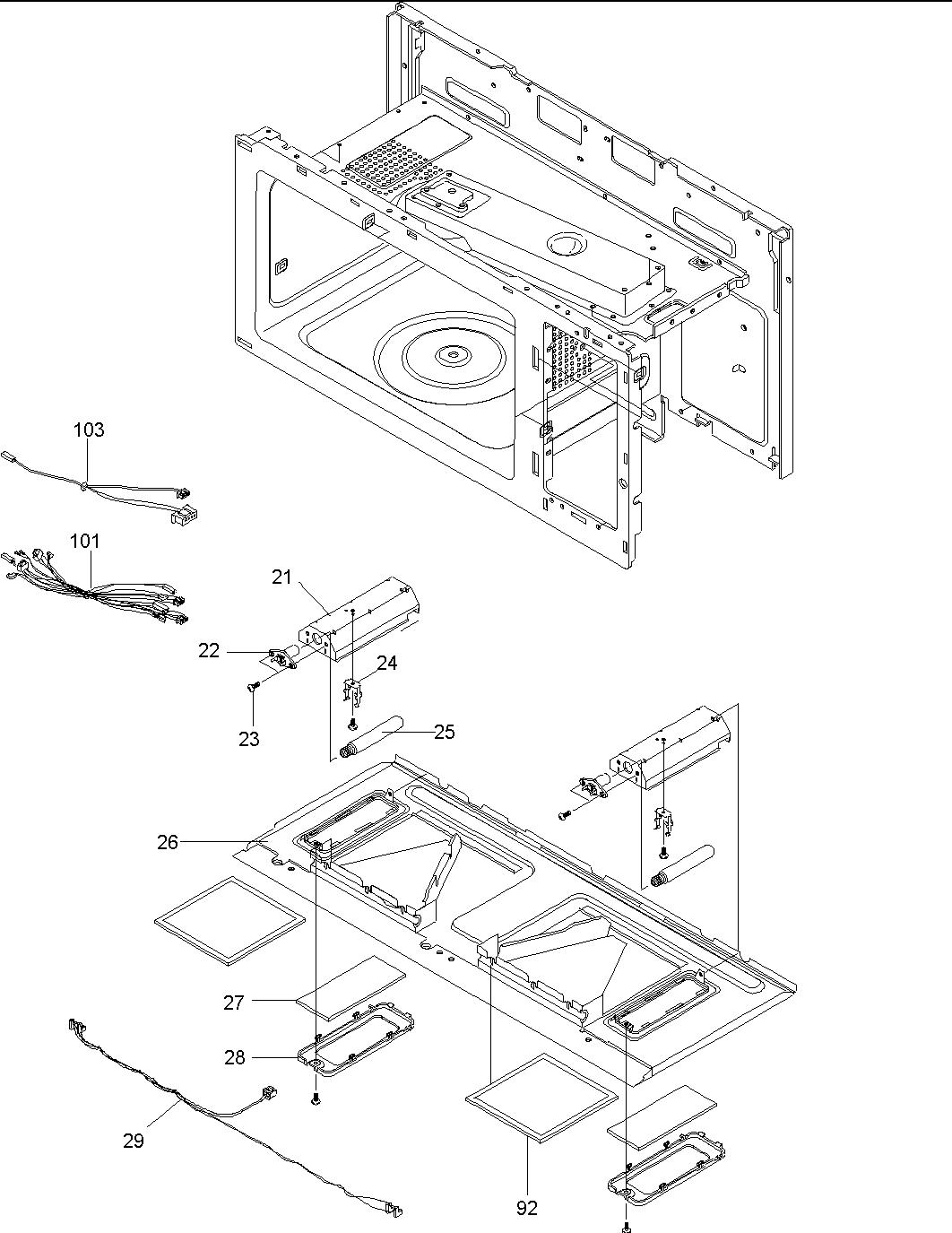 Amana model MVH230W-P1307904M microwave/hood combo genuine