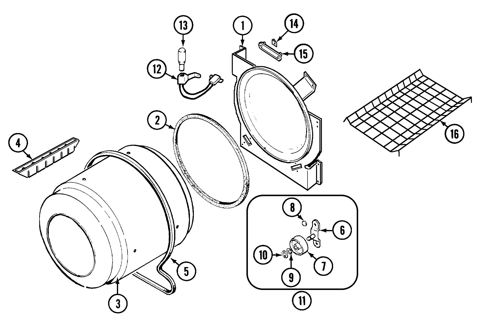 Crosley model CDG22B8V residential dryer genuine parts
