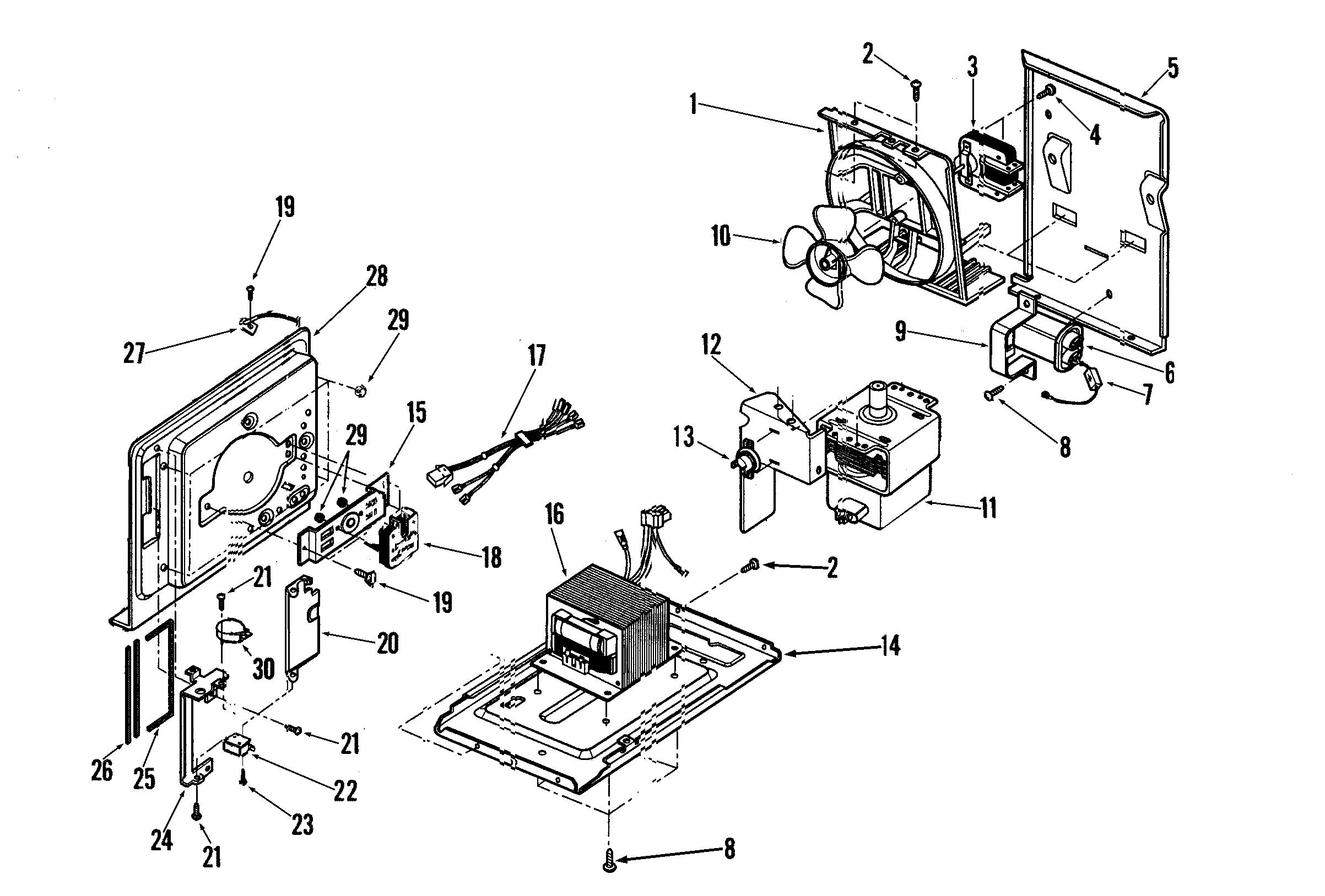 Maytag model MMV6178AAS microwave/hood combo genuine parts