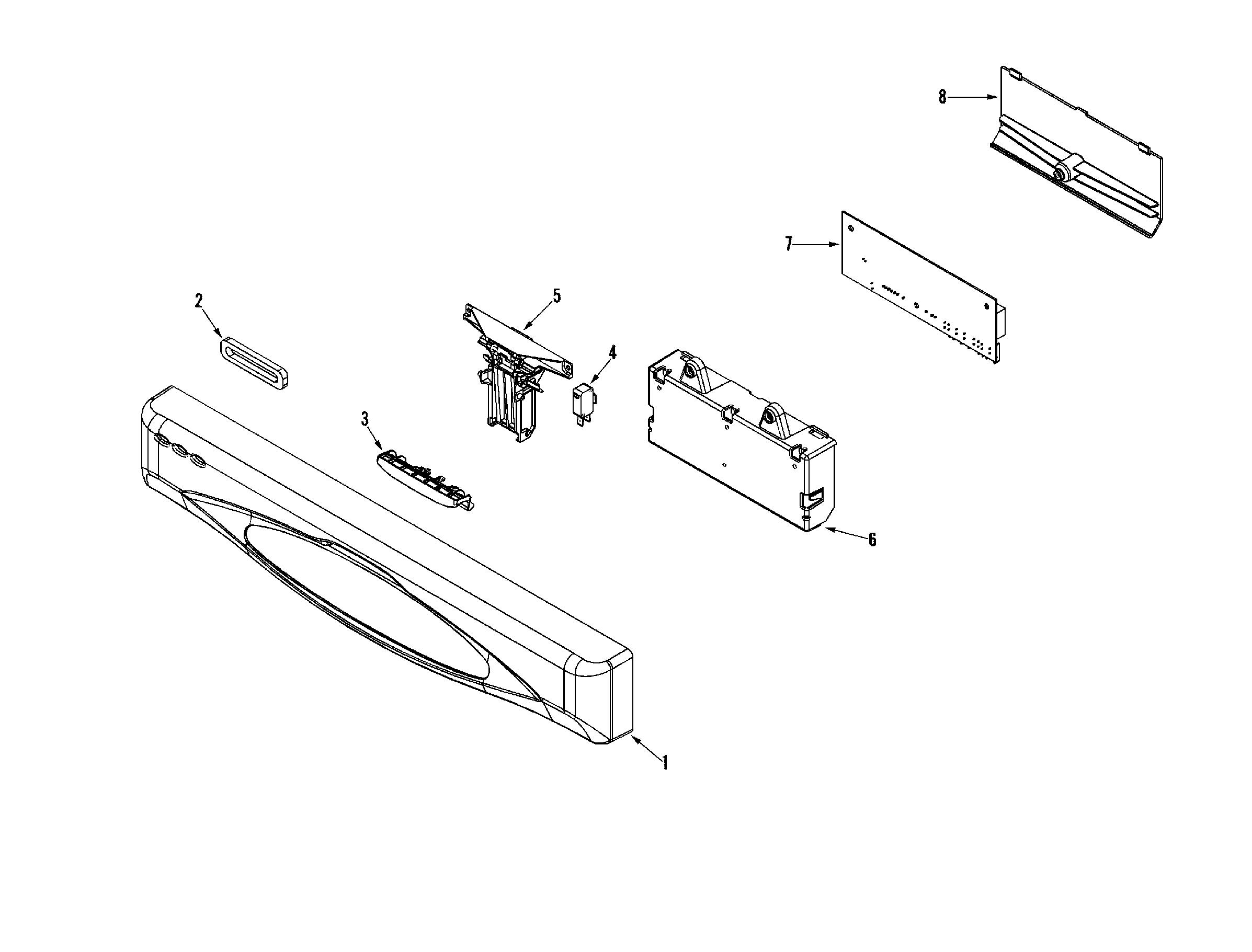 Maytag model MDB5600AWB dishwasher genuine parts