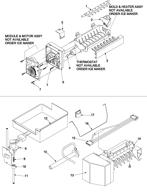 Amana model ARB8057CSL-PARB8057CS2 bottom-mount