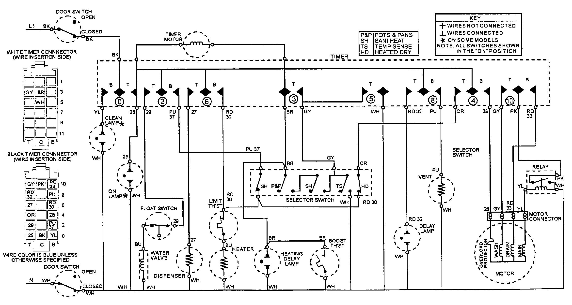 Maytag model MDC4000AWX dishwasher genuine parts