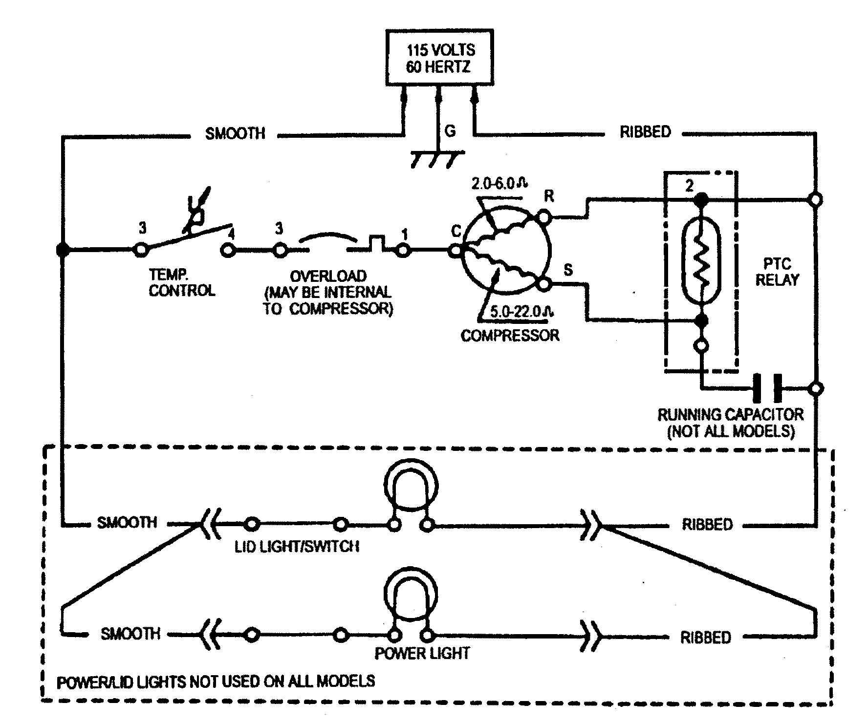 typical wiring diagram walk in cooler clarion marine stereo amana chest freezer parts model aqc1526aew sears