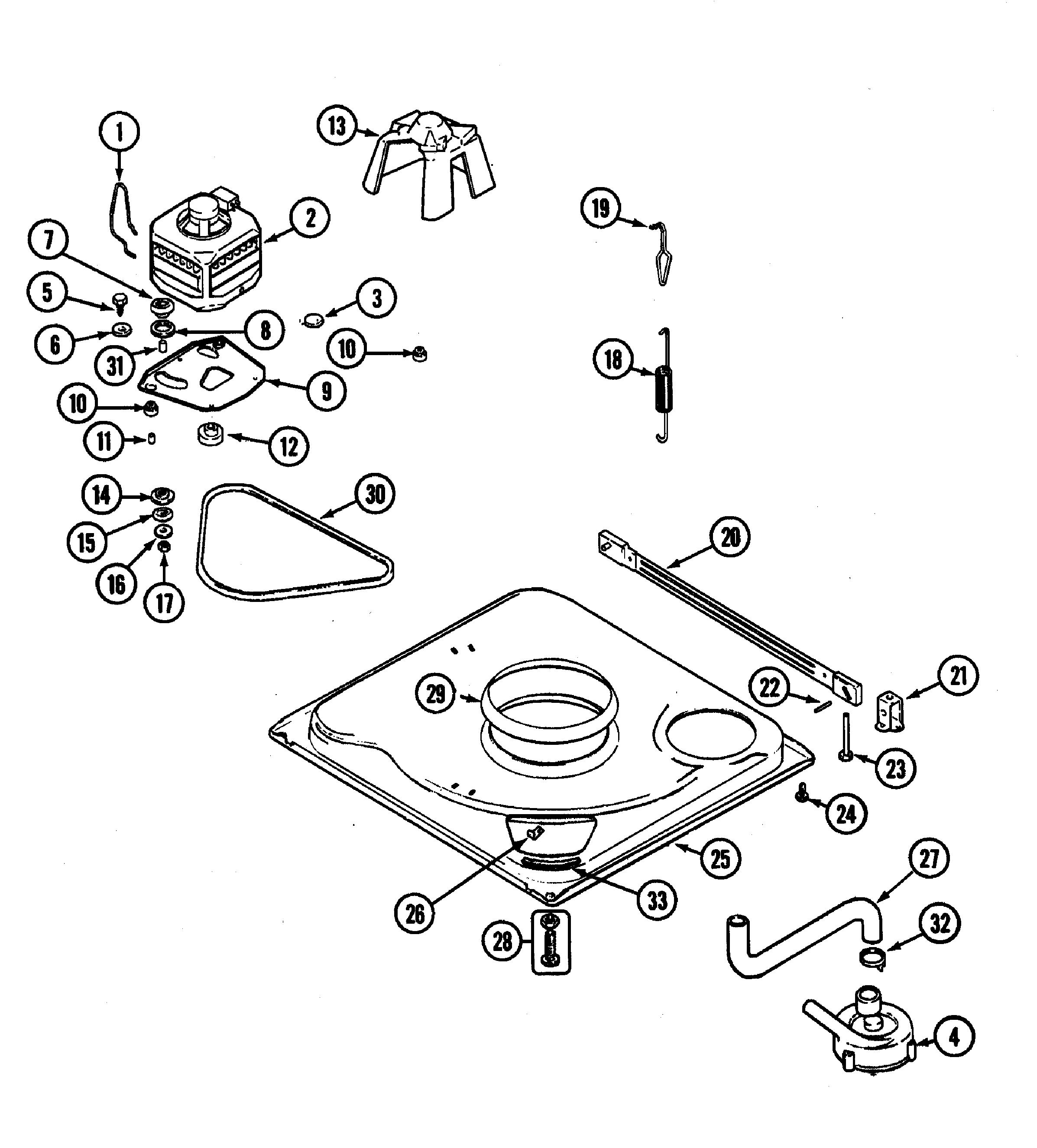 Maytag model PAV2300AWW residential washers genuine parts