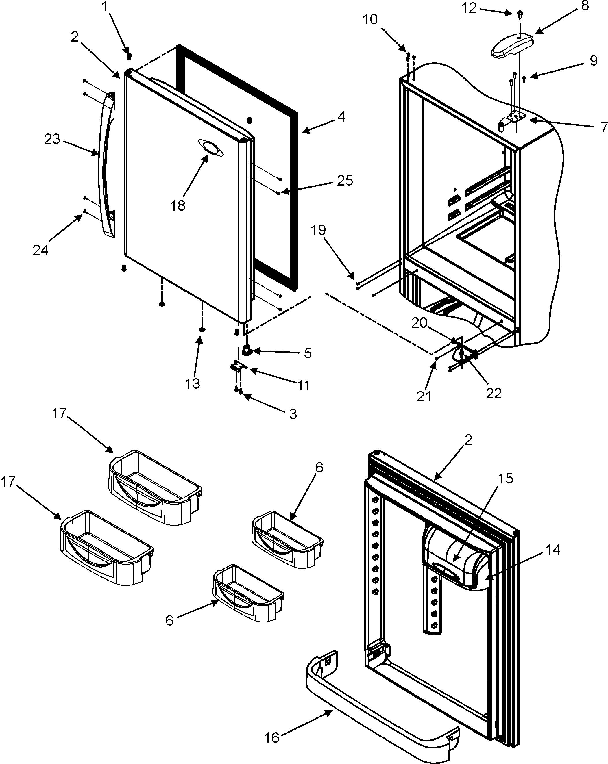 Maytag model MBF1956KEB bottom-mount refrigerator genuine