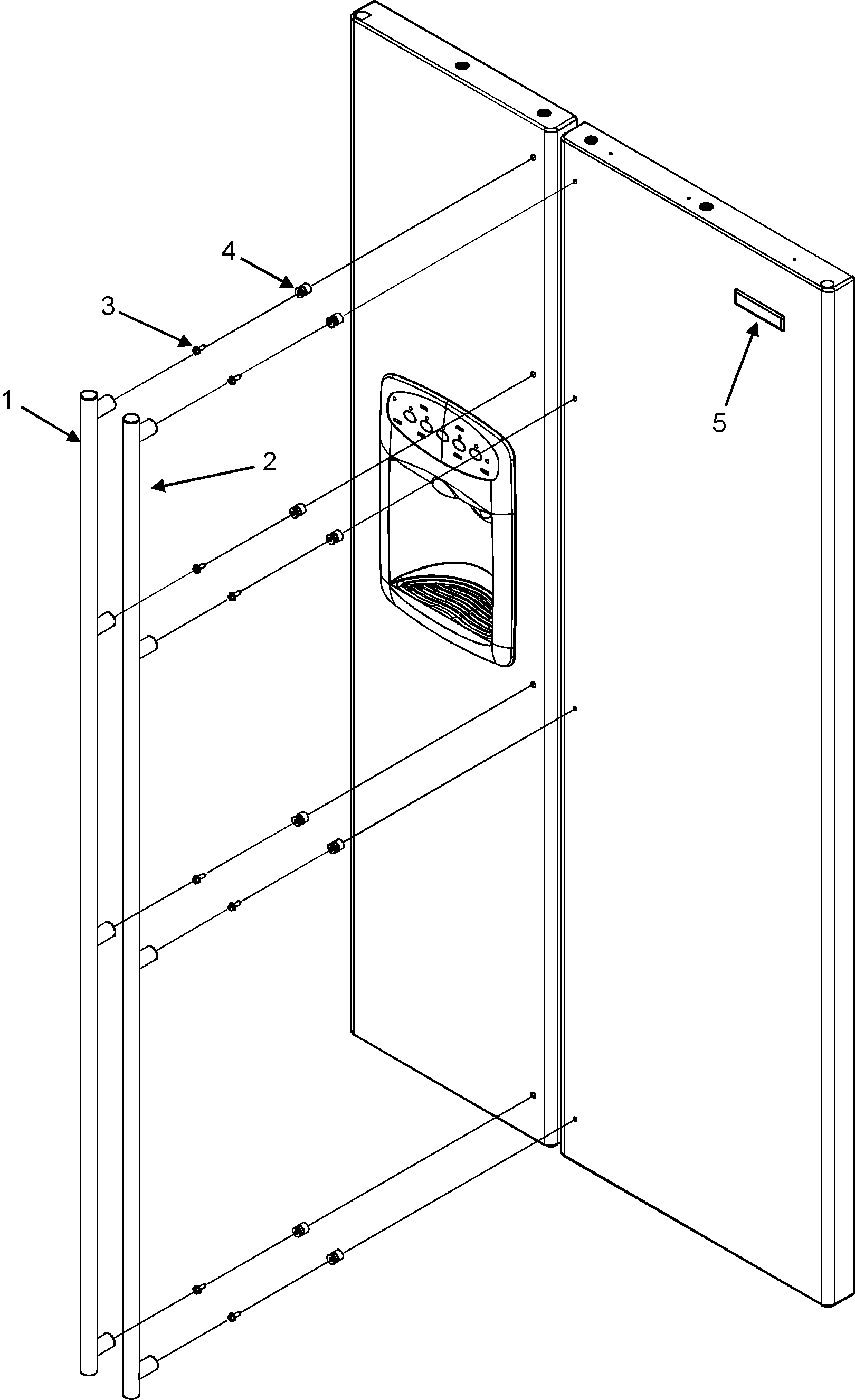 Jenn-Air model JCD2295KES side-by-side refrigerator