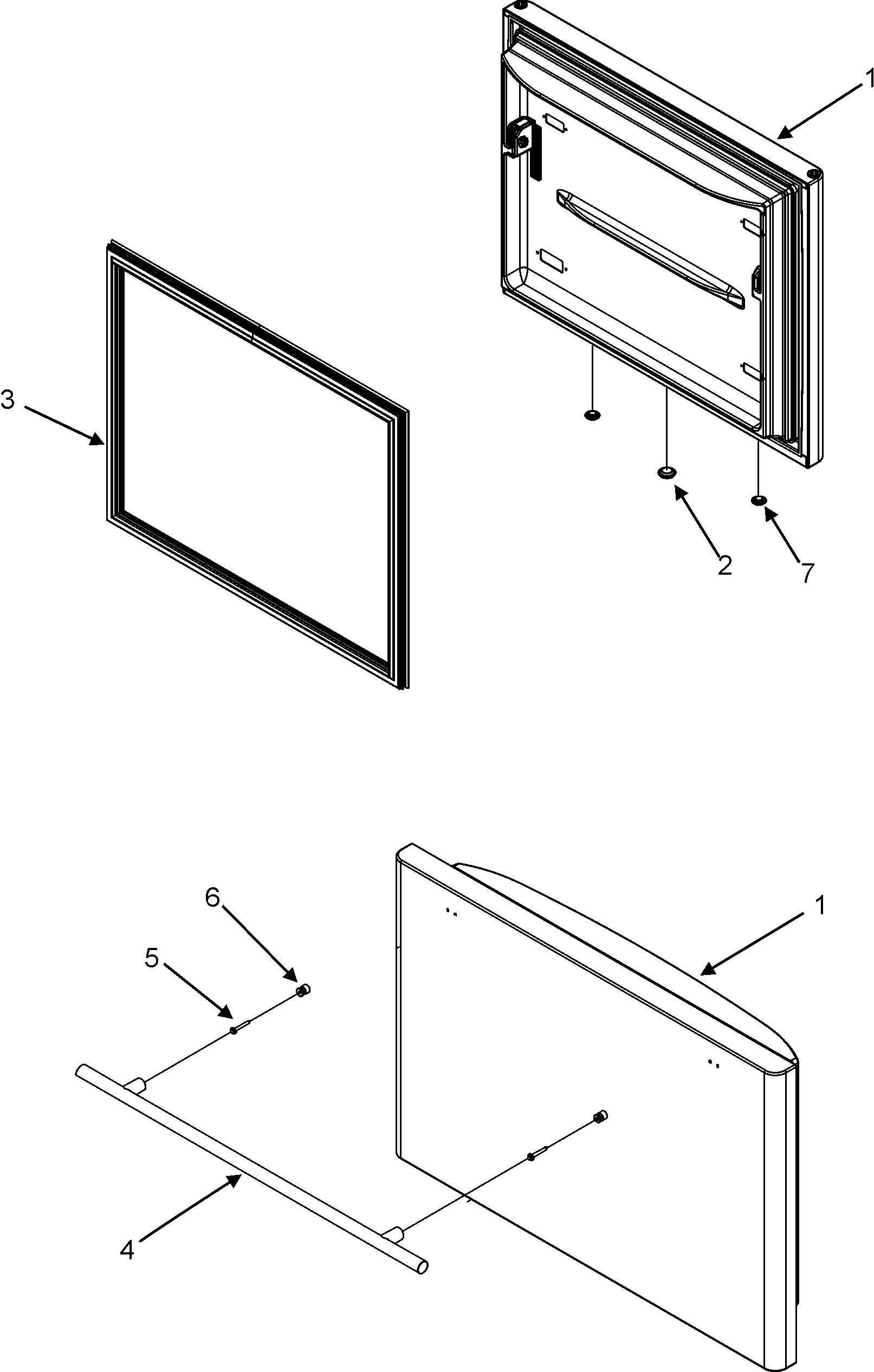 Jenn-Air model JBR2088HES bottom-mount refrigerator