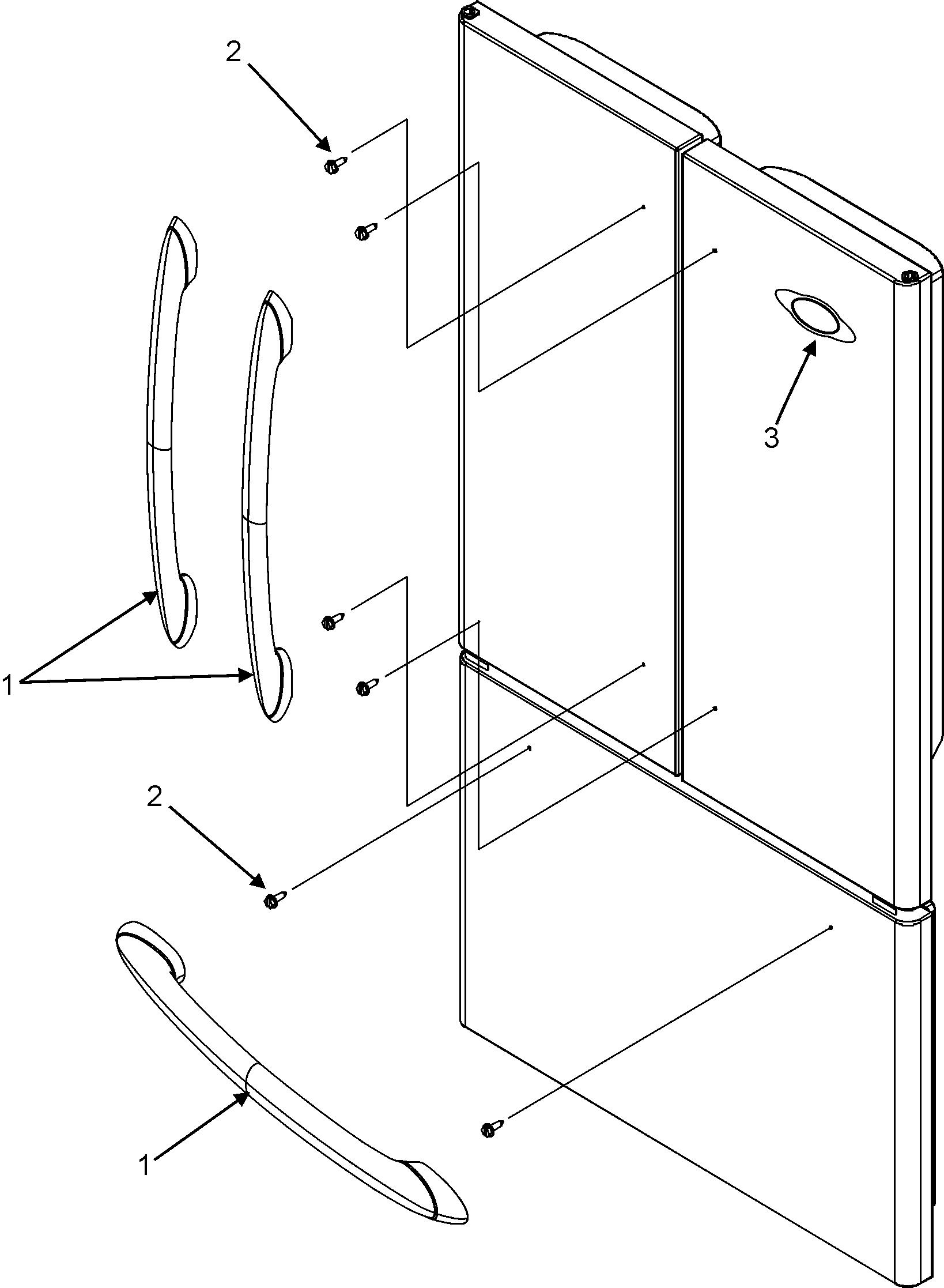 Maytag model MFI2568AEW bottom-mount refrigerator genuine