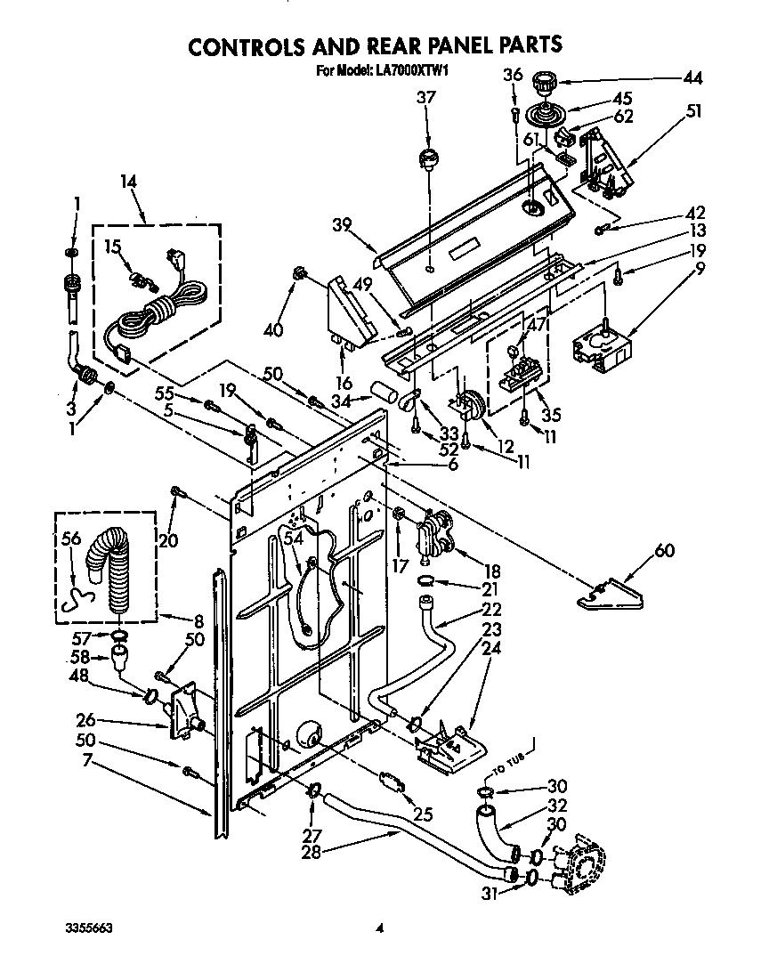 Whirlpool model LA7000XTW1 washers genuine parts