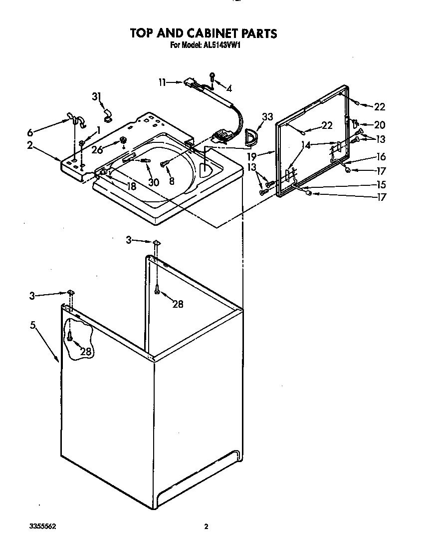 Roper model AL5143VW1 washers genuine parts