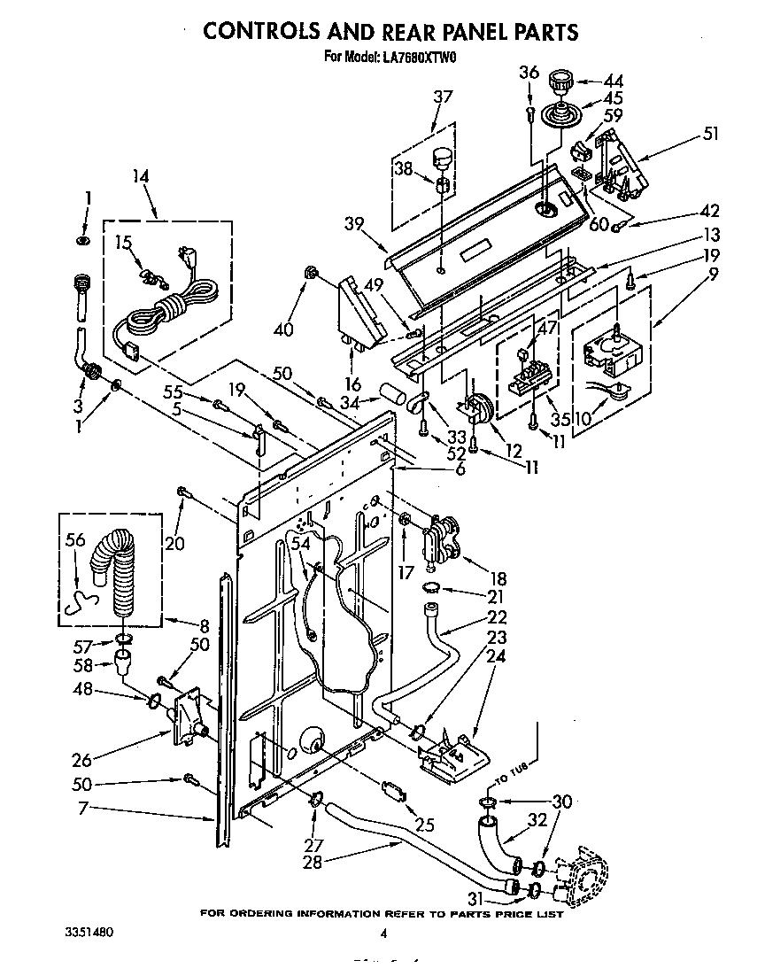Whirlpool model LA7680XTW0 washers genuine parts