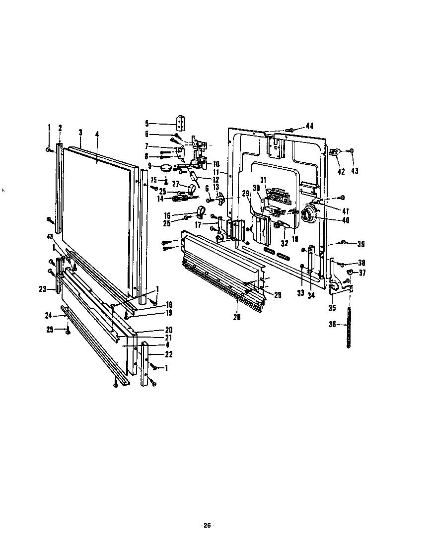 Roper model 8575L00 dishwasher genuine parts