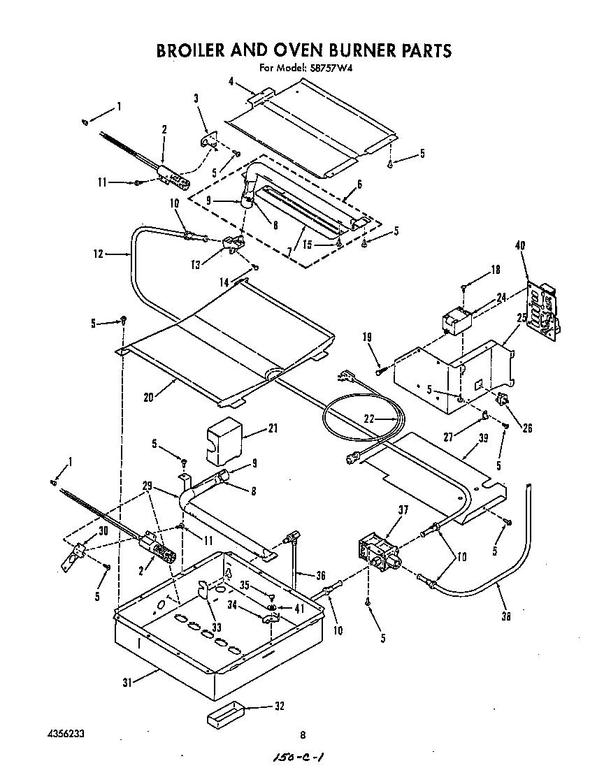 Roper model S8757W4 range (gas) genuine parts