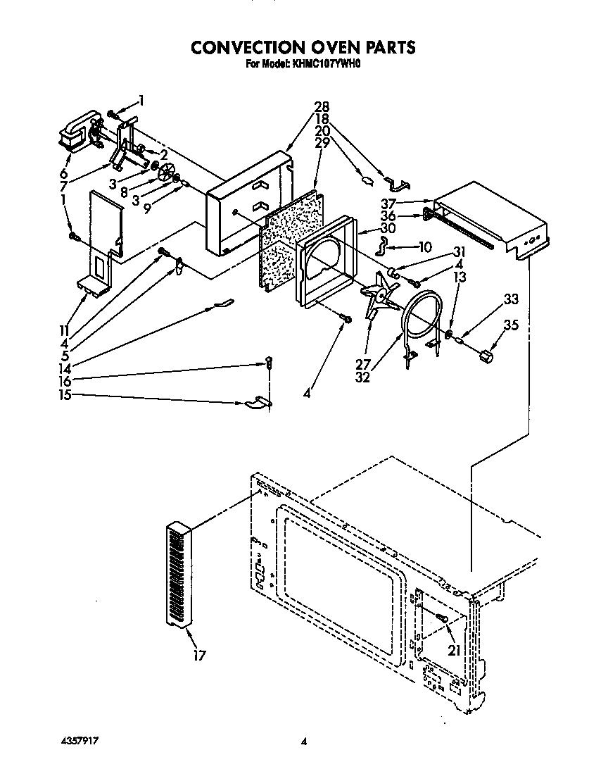 Kitchenaid model KHMC107YWH0 microwave/hood combo genuine