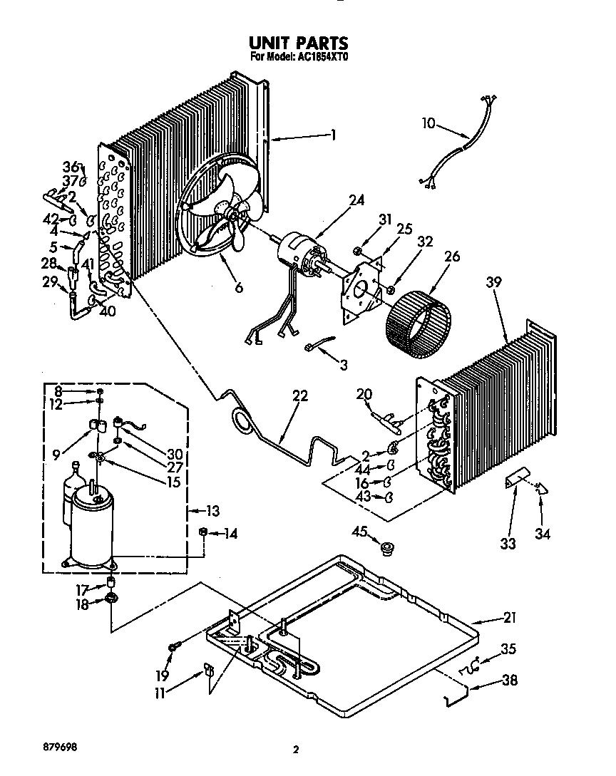 Whirlpool model AC1854XT0 air-conditioner/heat pump