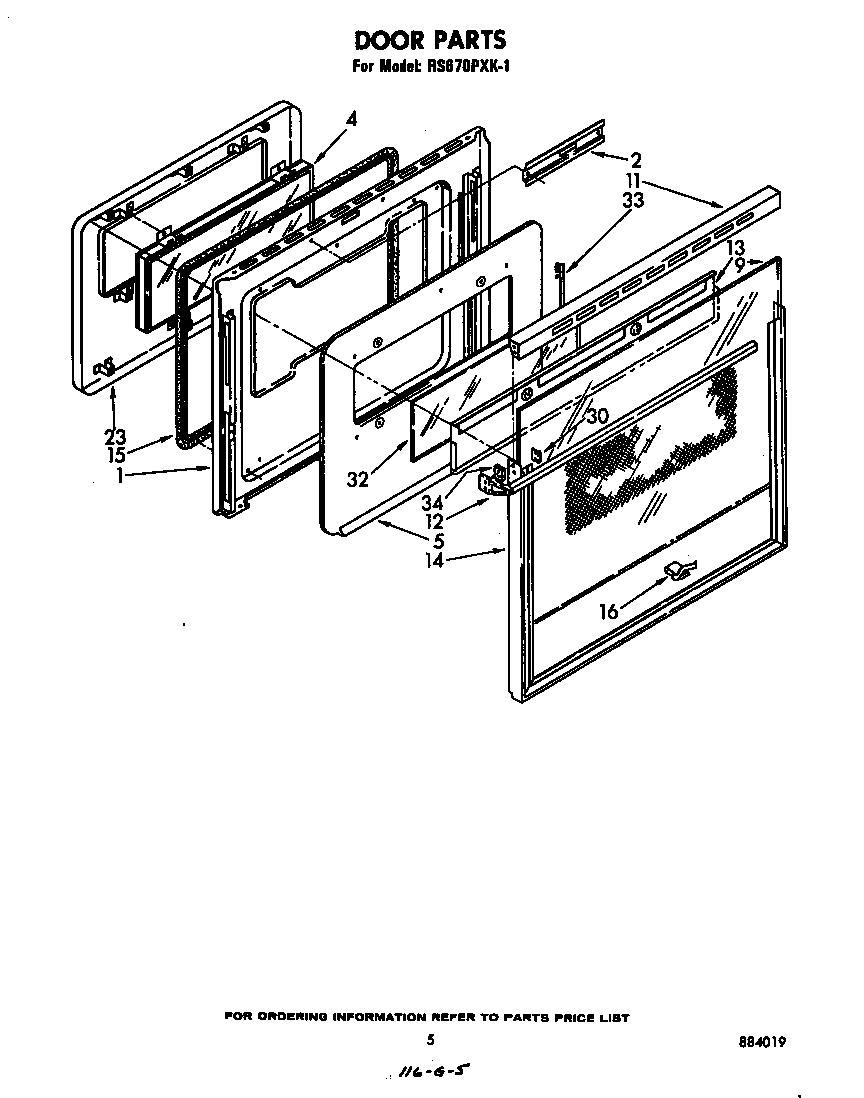 Whirlpool model RS670PXK1 free standing, electric genuine