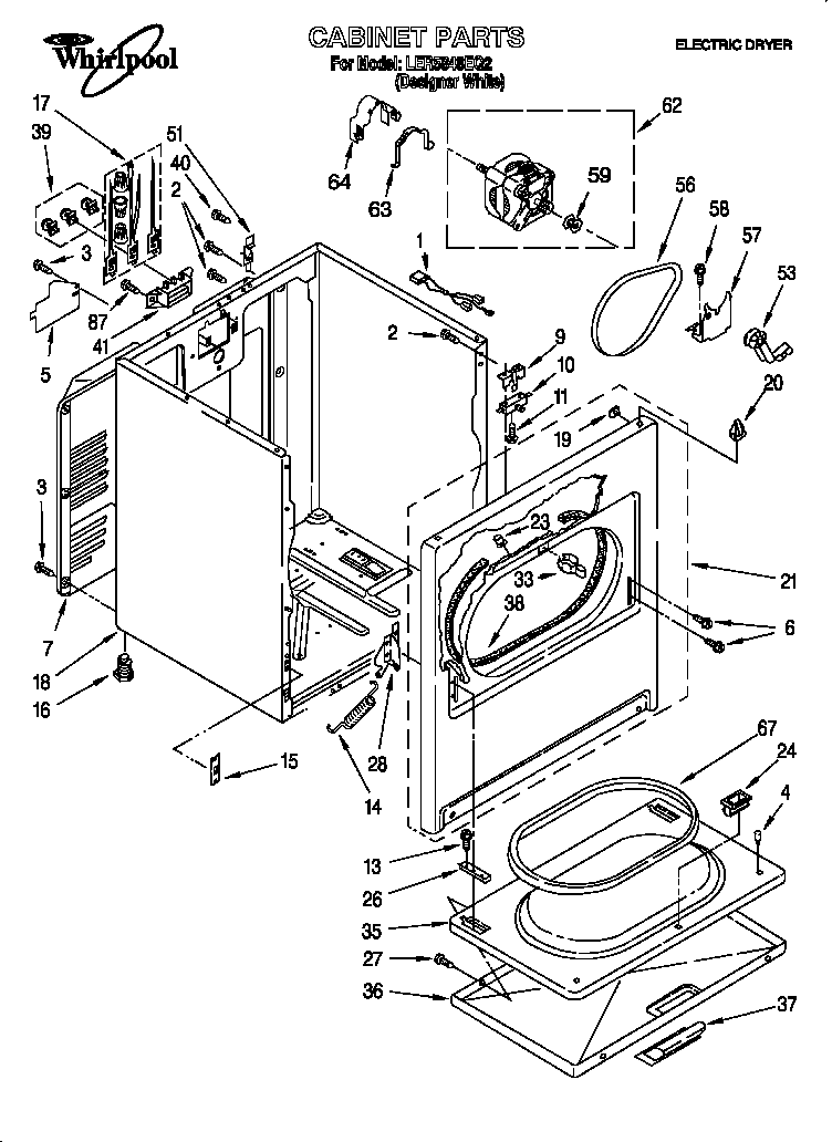 Kenmore Model 110 Parts Diagram Kenmore HE2 Parts Diagram