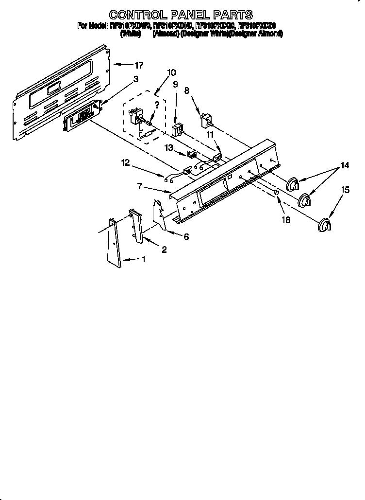Whirlpool model RF310PXDW0 free standing, electric genuine
