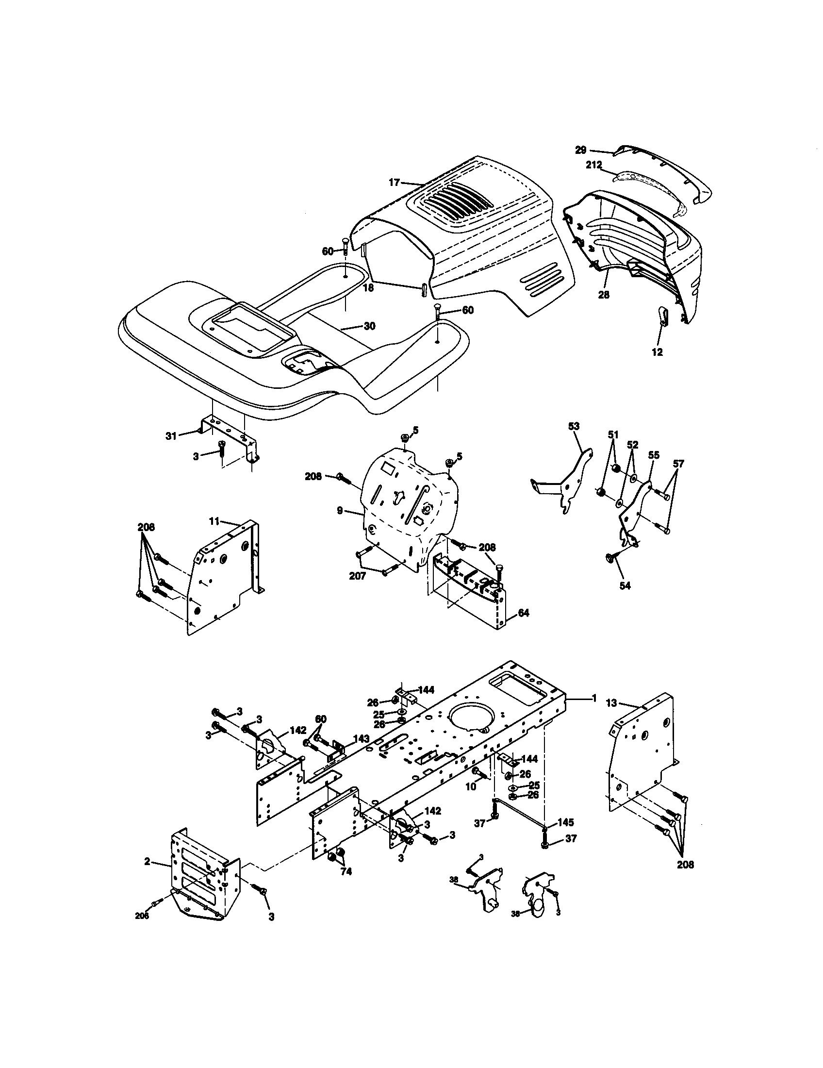 Craftsman Lt1000 Wiring Harness Diagram Craftsman Lt1000