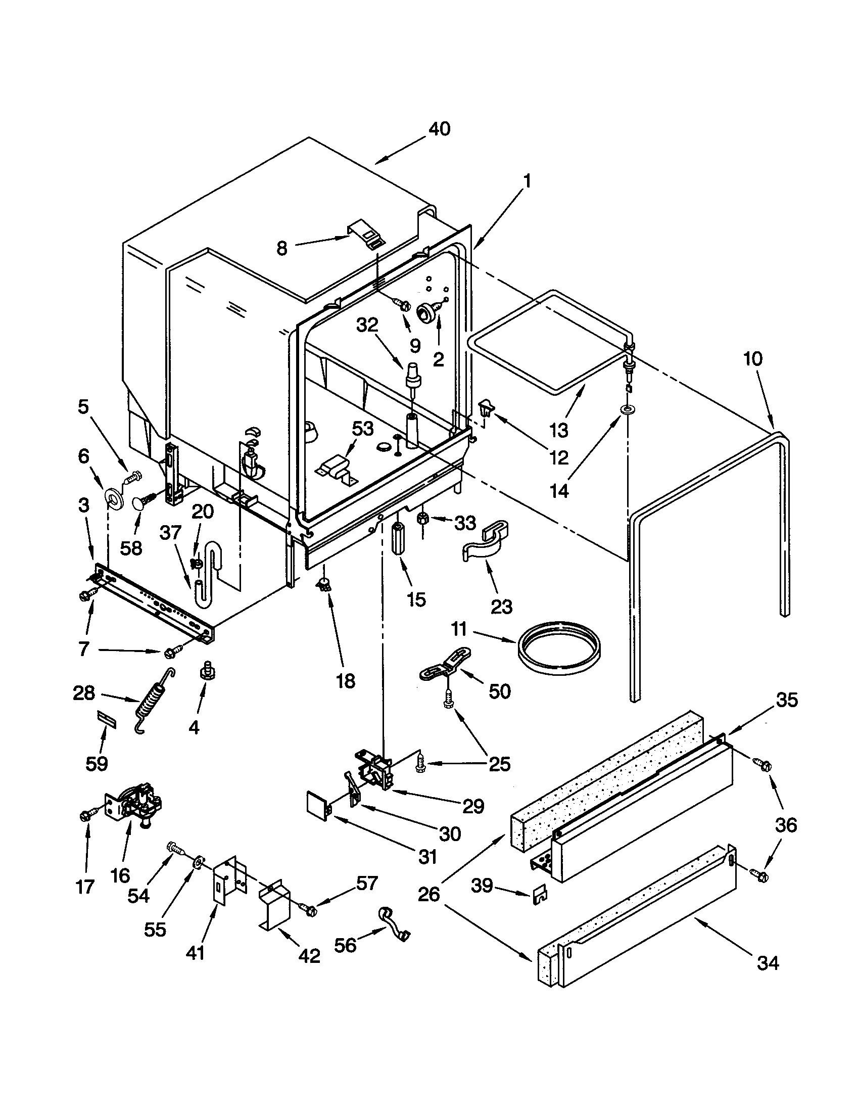 Whirlpool model GU940SCGB3 dishwasher genuine parts