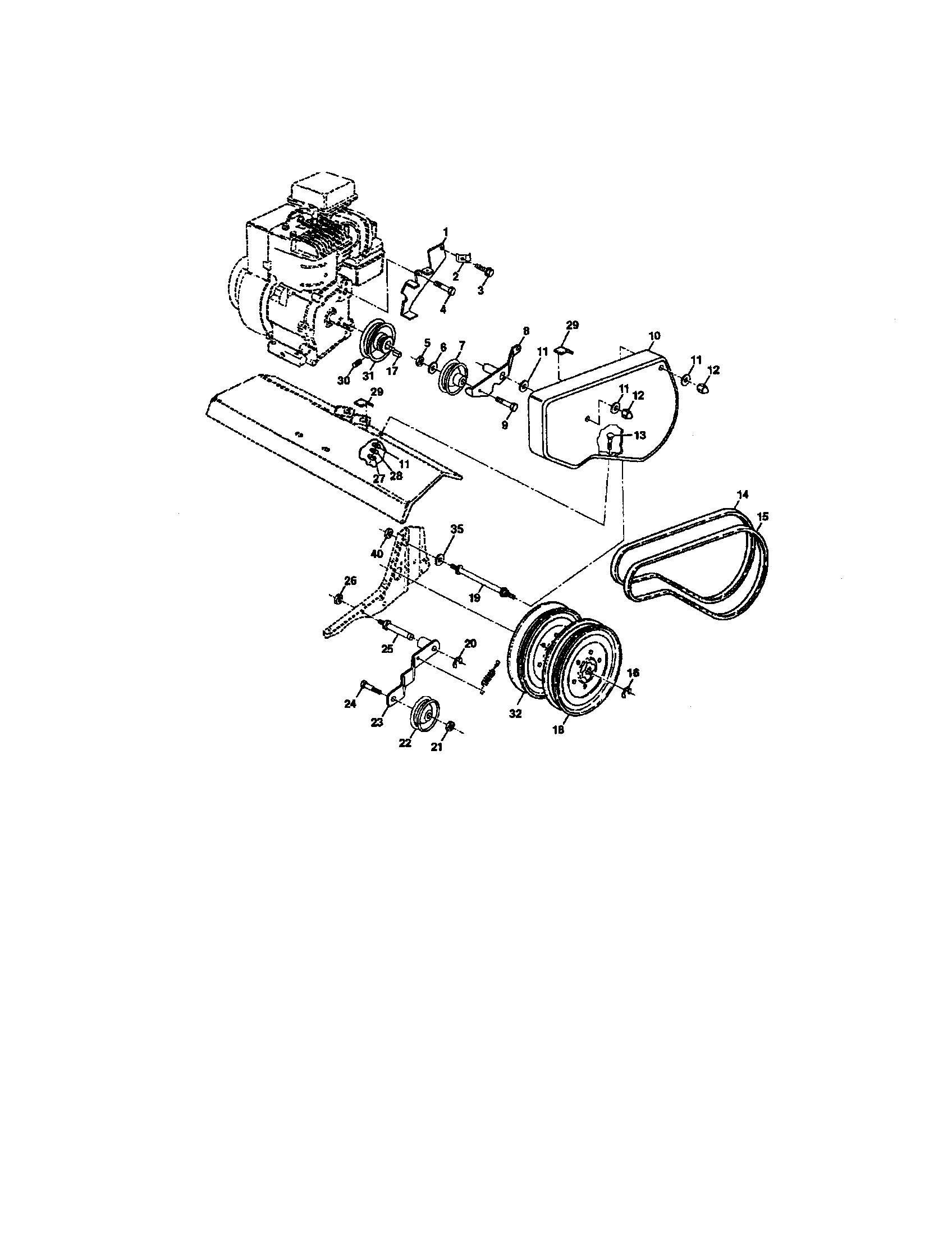 Craftsman model 917292490 front tine, gas tiller genuine parts