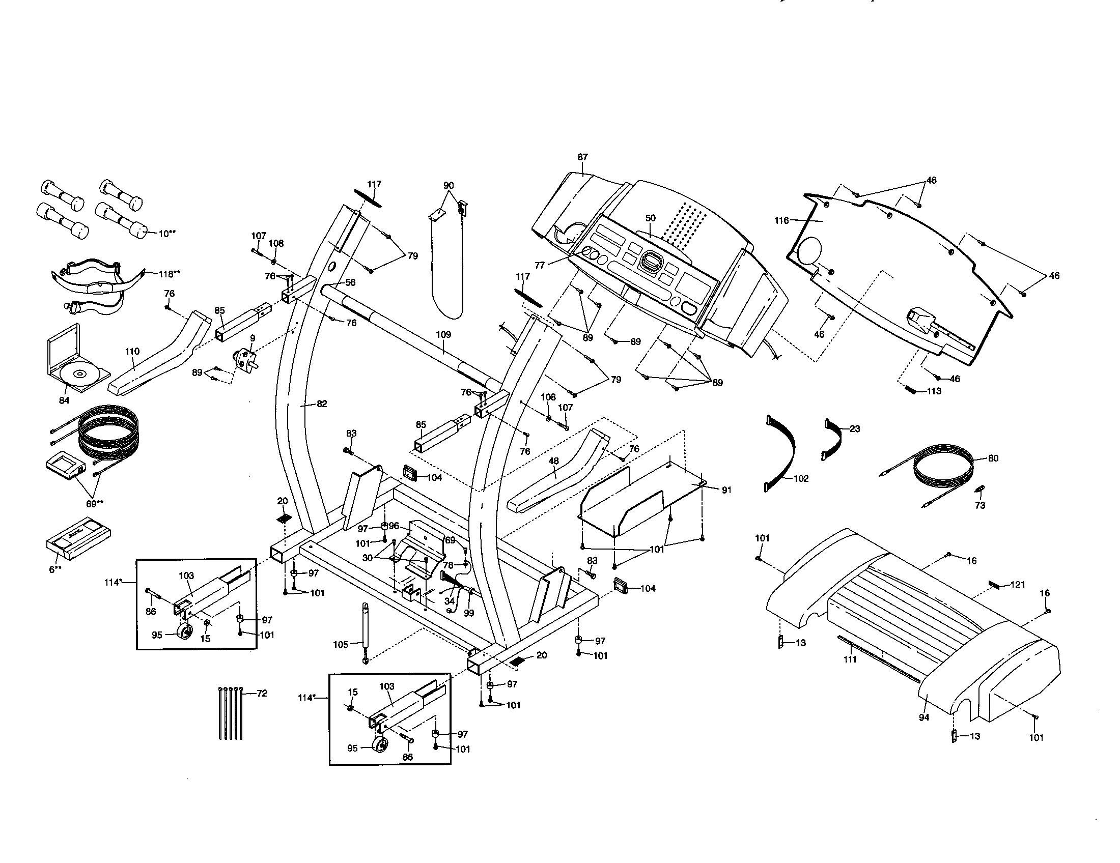 Proform model 831299462 treadmill genuine parts
