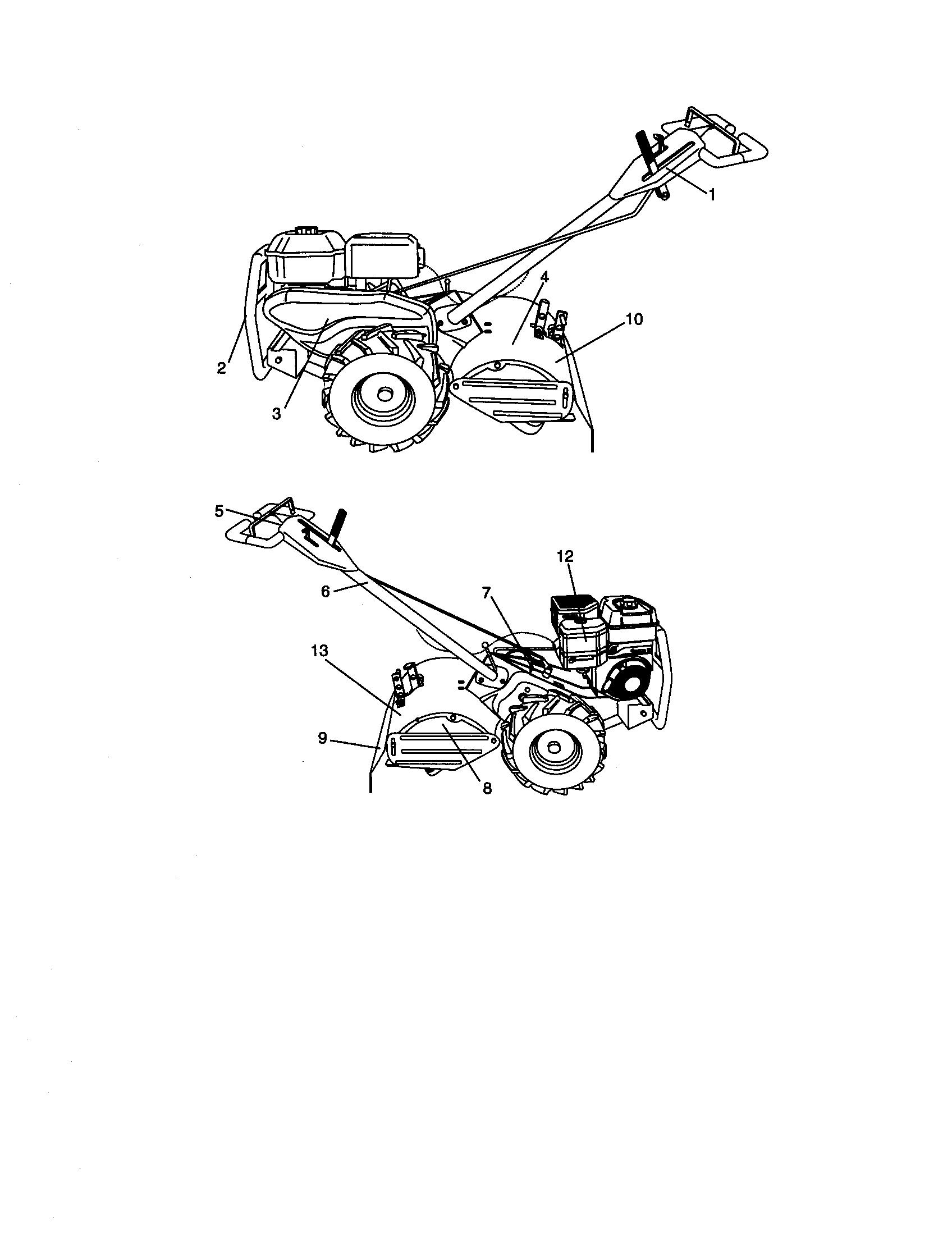 Craftsman model 917293490 rear tine, gas tiller genuine parts