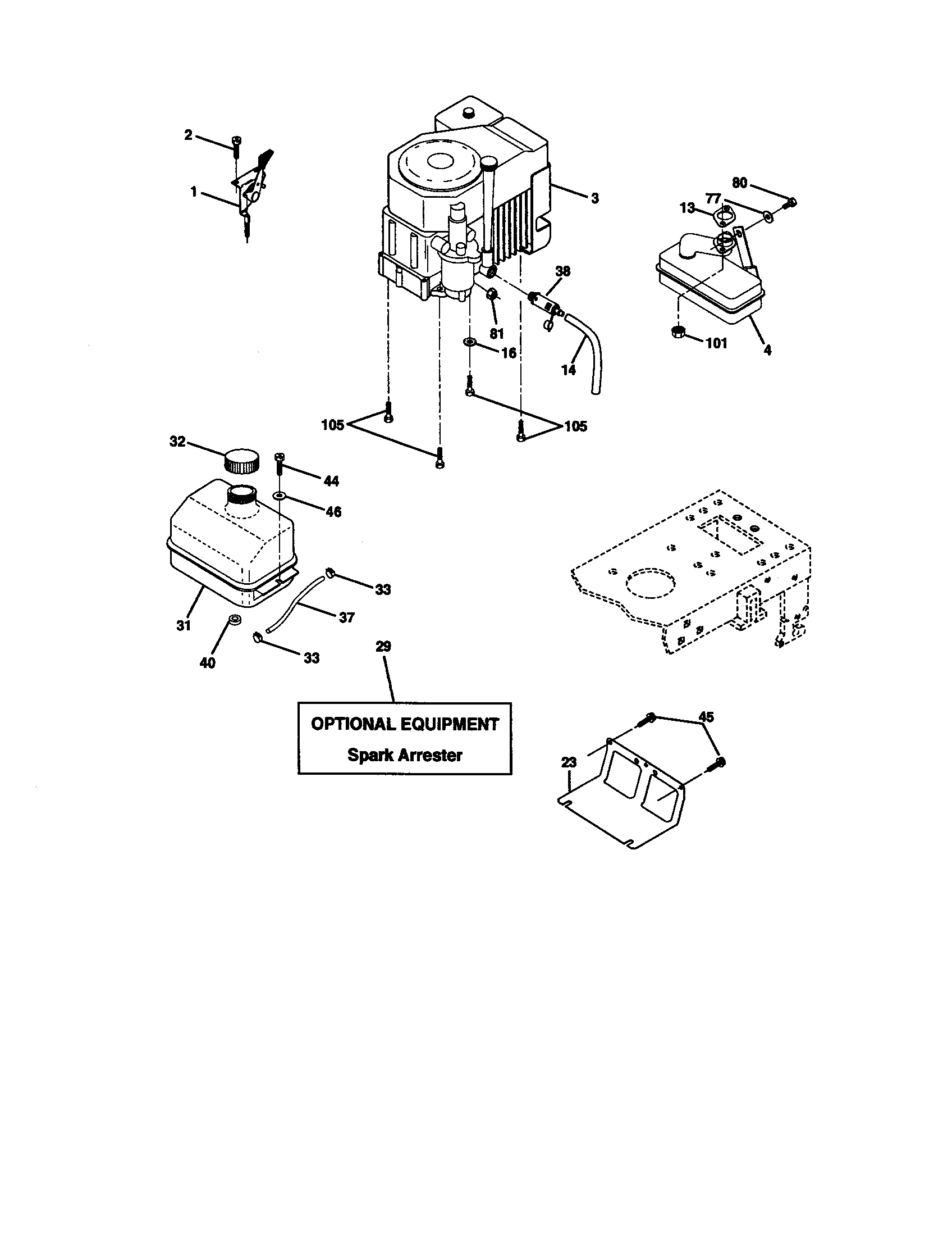 Craftsman model 917271053 lawn, tractor genuine parts