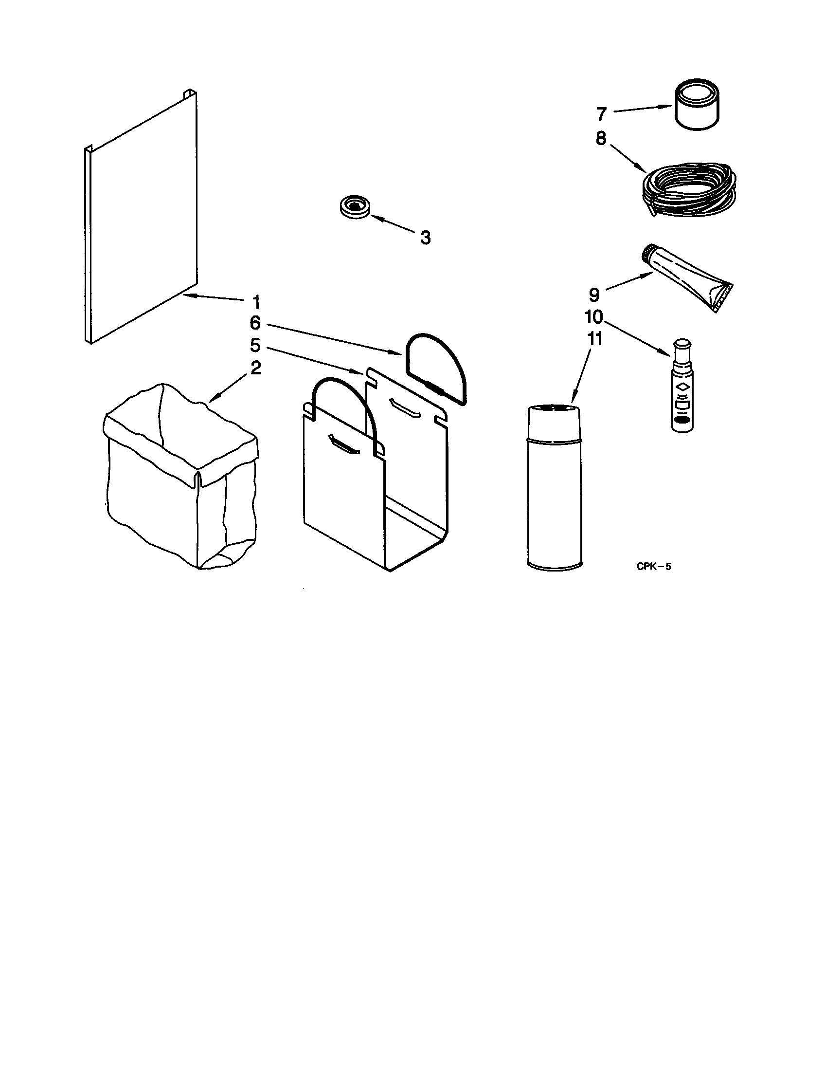 Kitchenaid model KUCC151GSS1 compactors genuine parts
