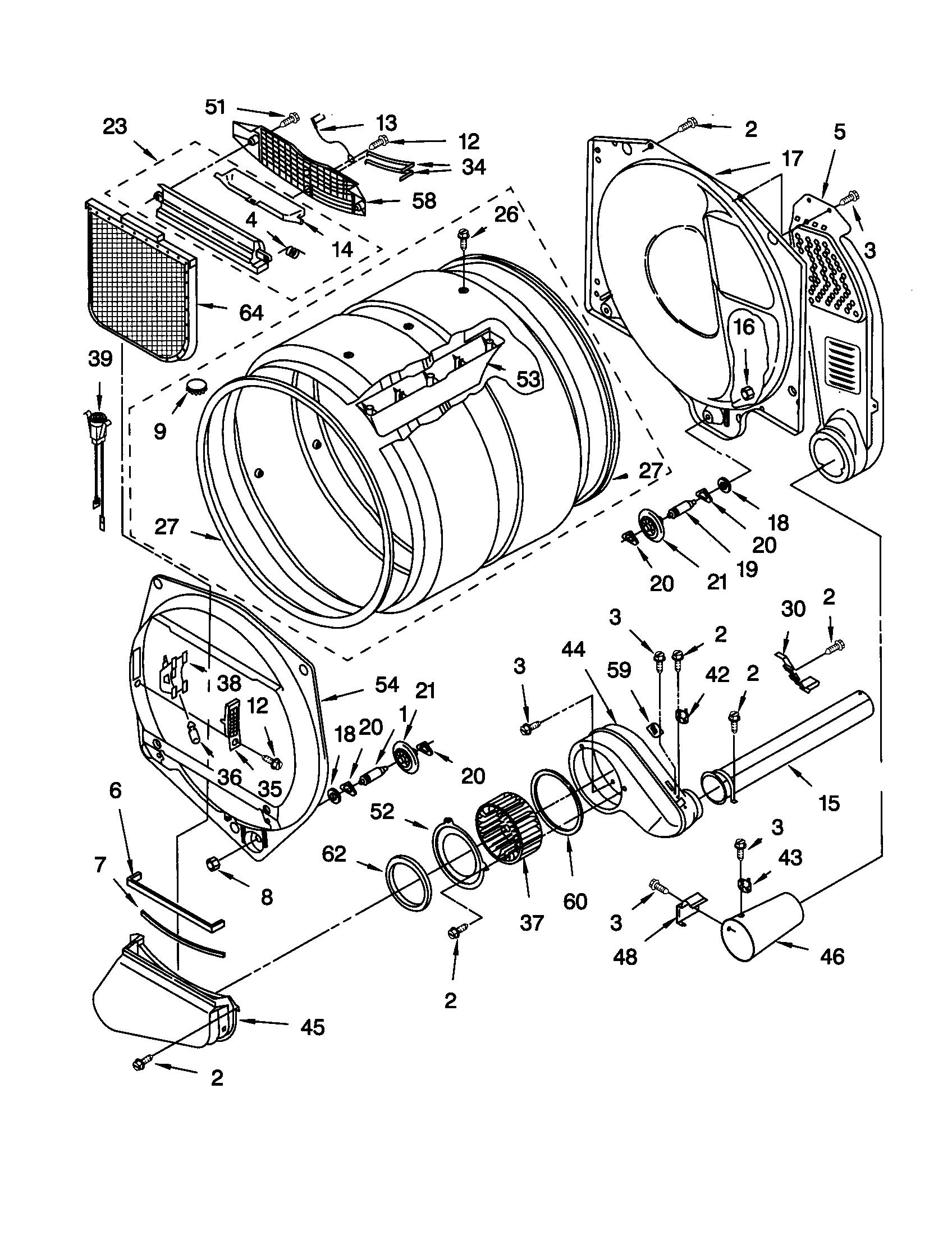 Kenmore model 11070902990 residential dryer genuine parts