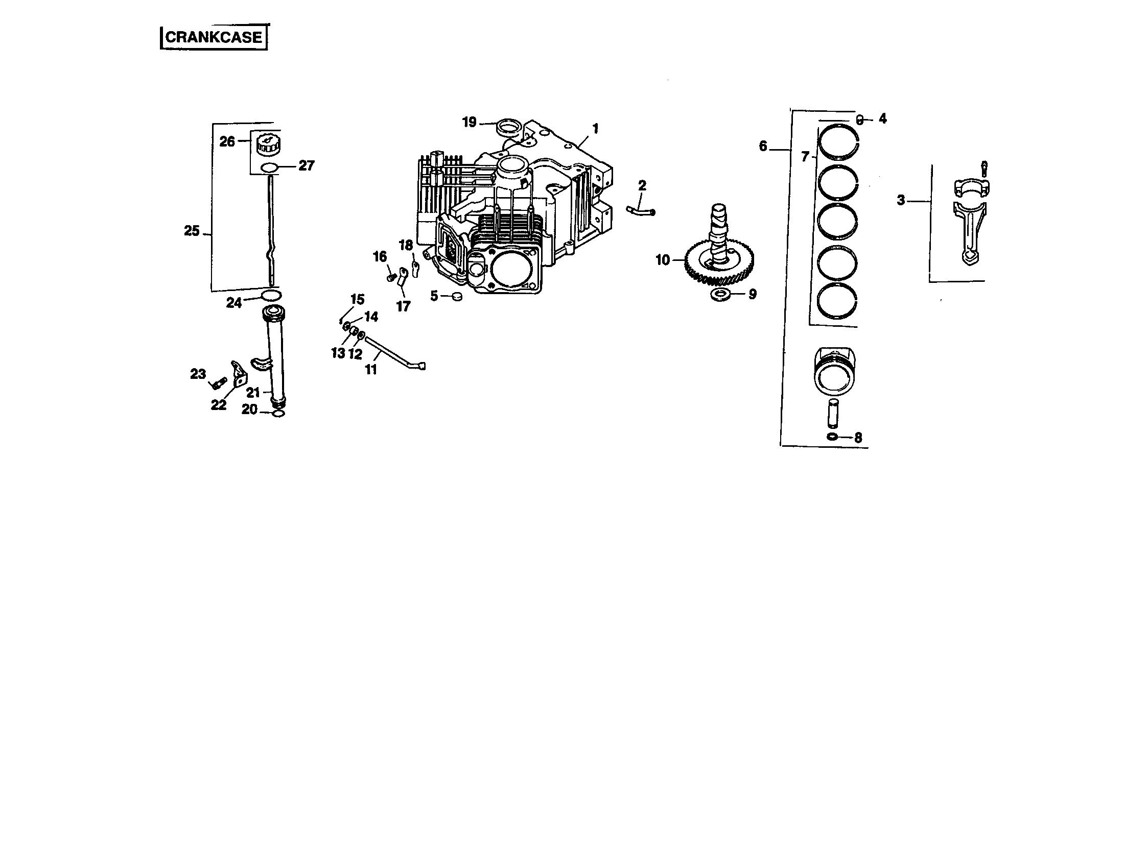 Kohler model CV20S-65544 engine genuine parts