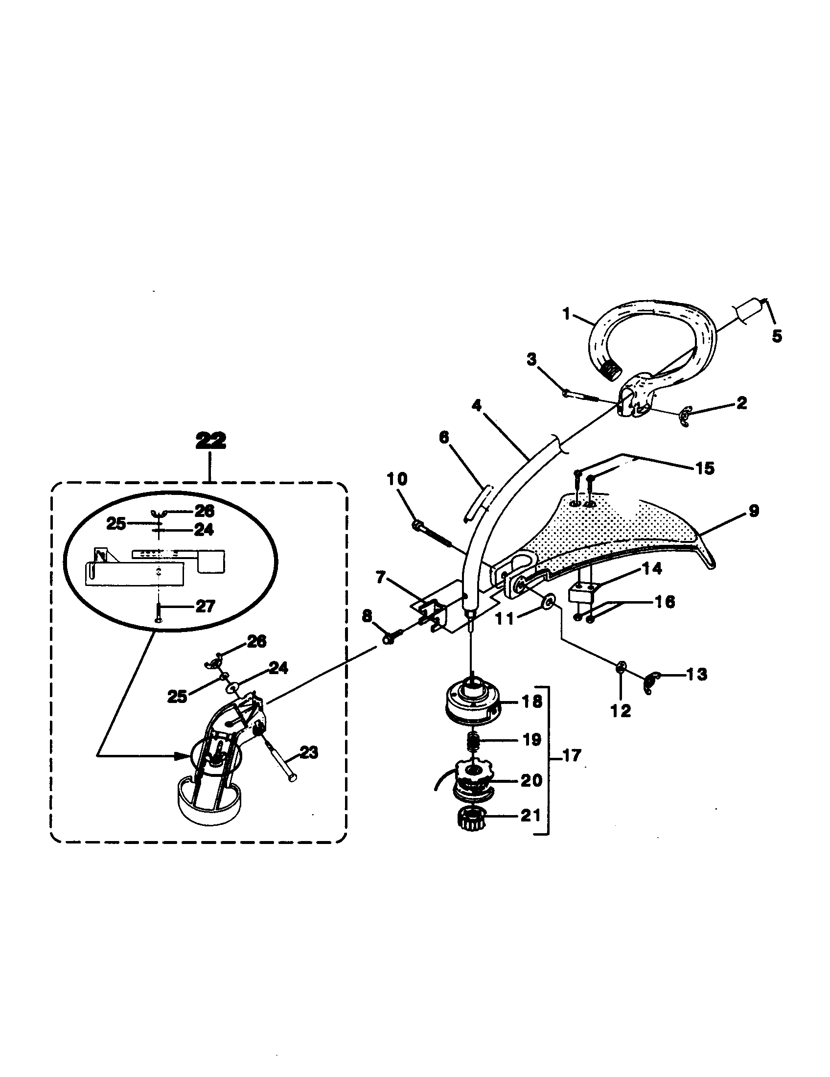 Homelite model UT20728 line trimmers/weedwackers, gas