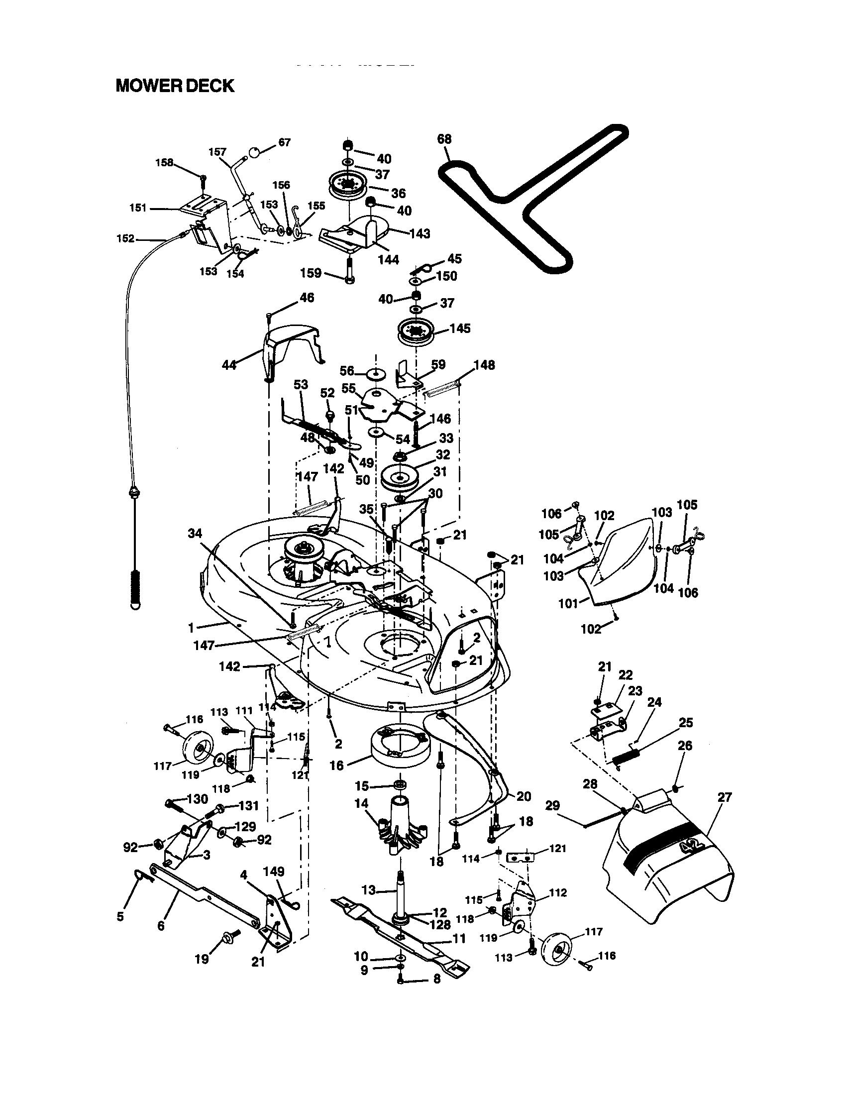 Craftsman model 917270930 lawn, tractor genuine parts