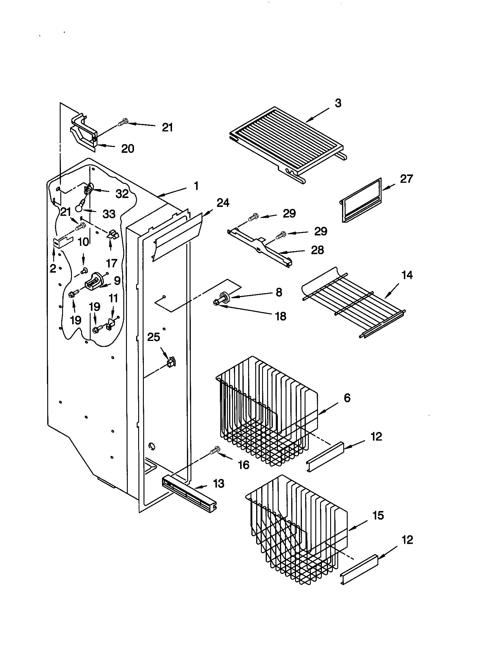 Kenmore model 10659599990 side-by-side refrigerator