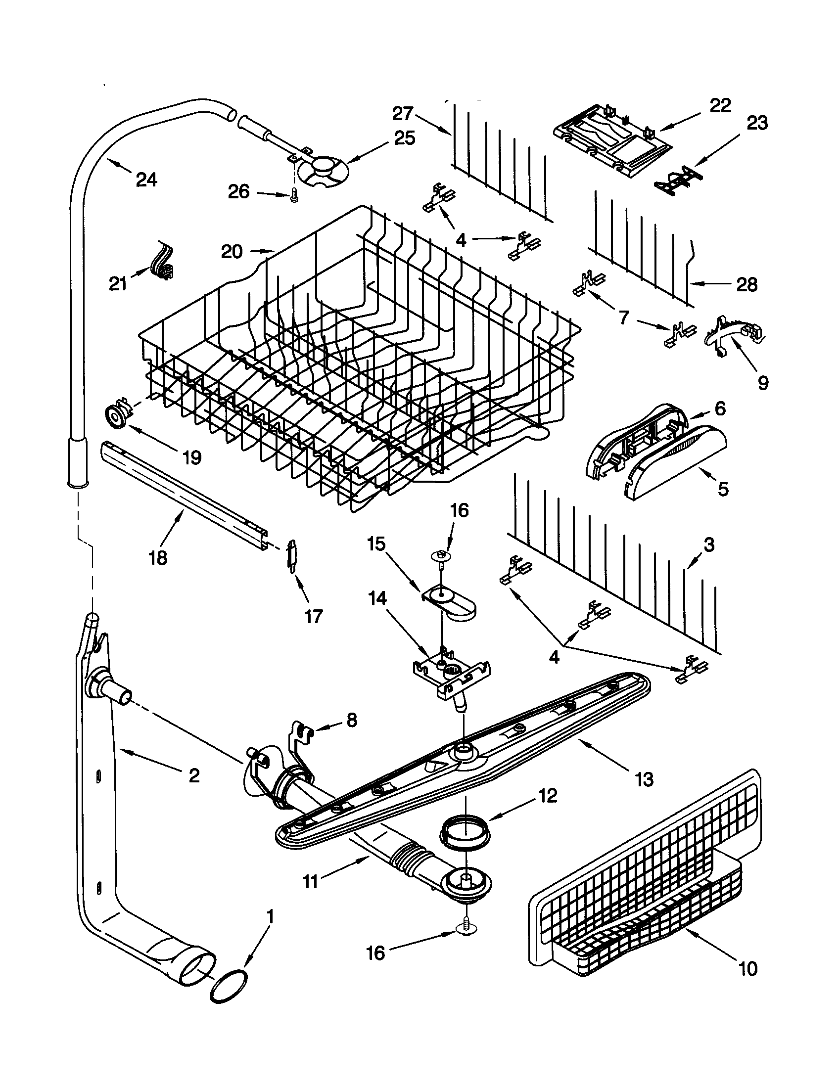 Kenmore model 66515832000 dishwasher genuine parts