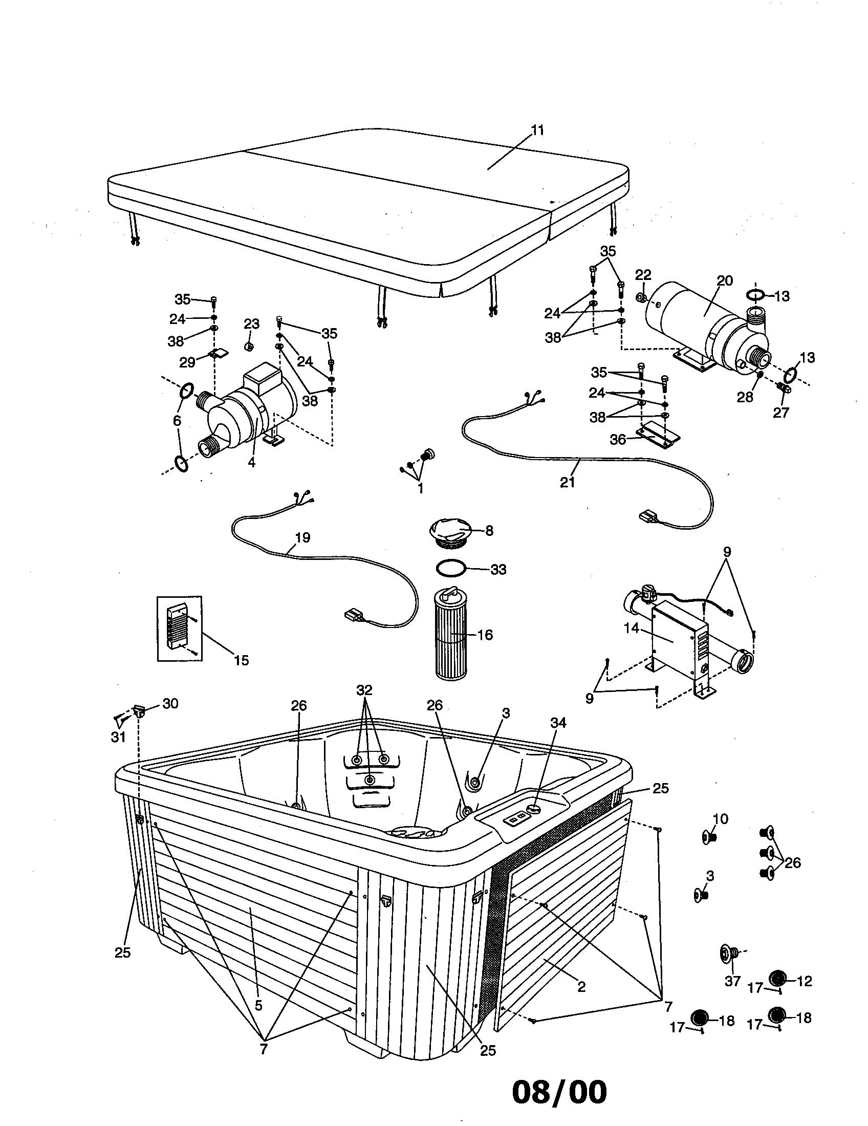 Image model 210160 spa genuine parts