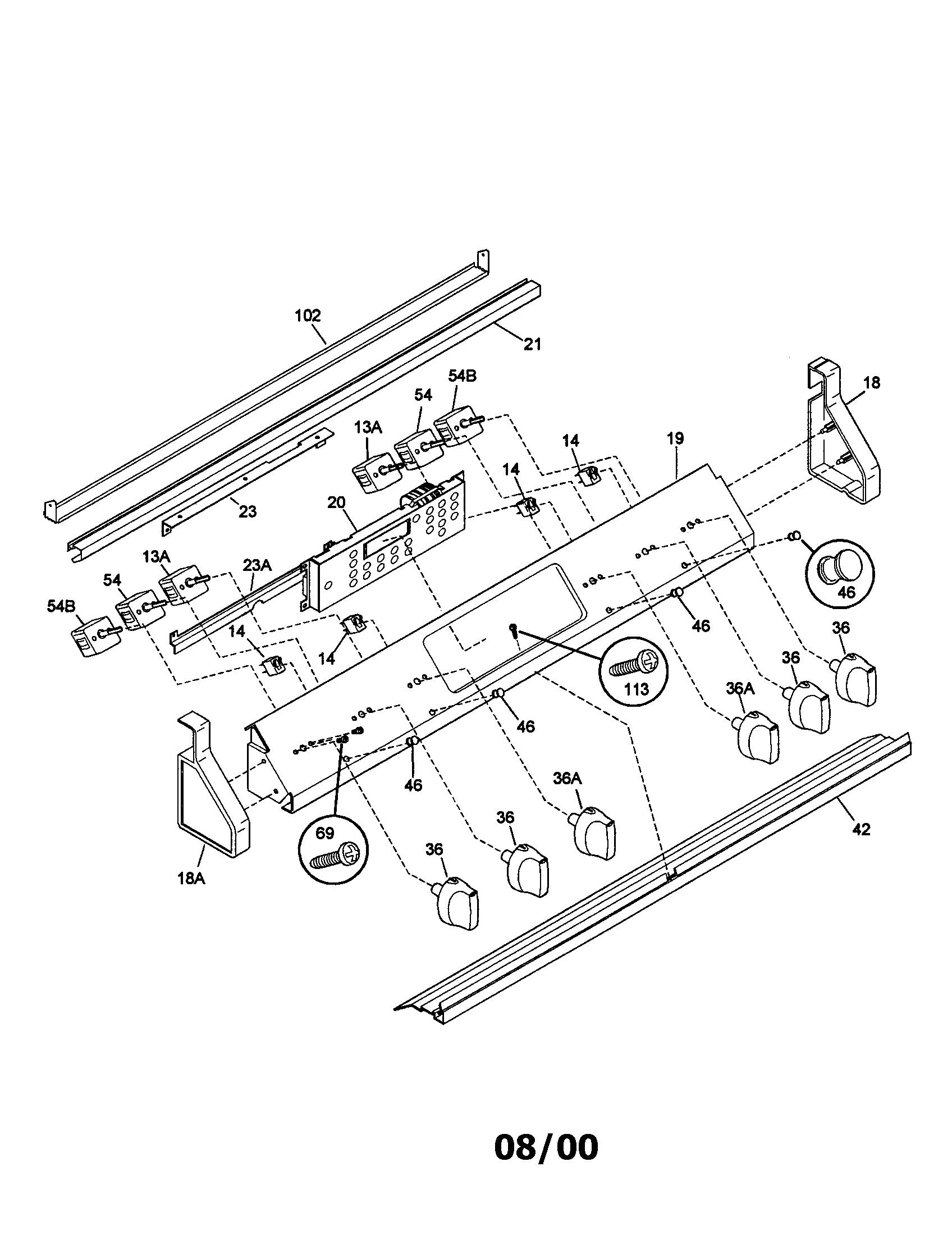 Kenmore model 970-445341 slide-in range, electric genuine
